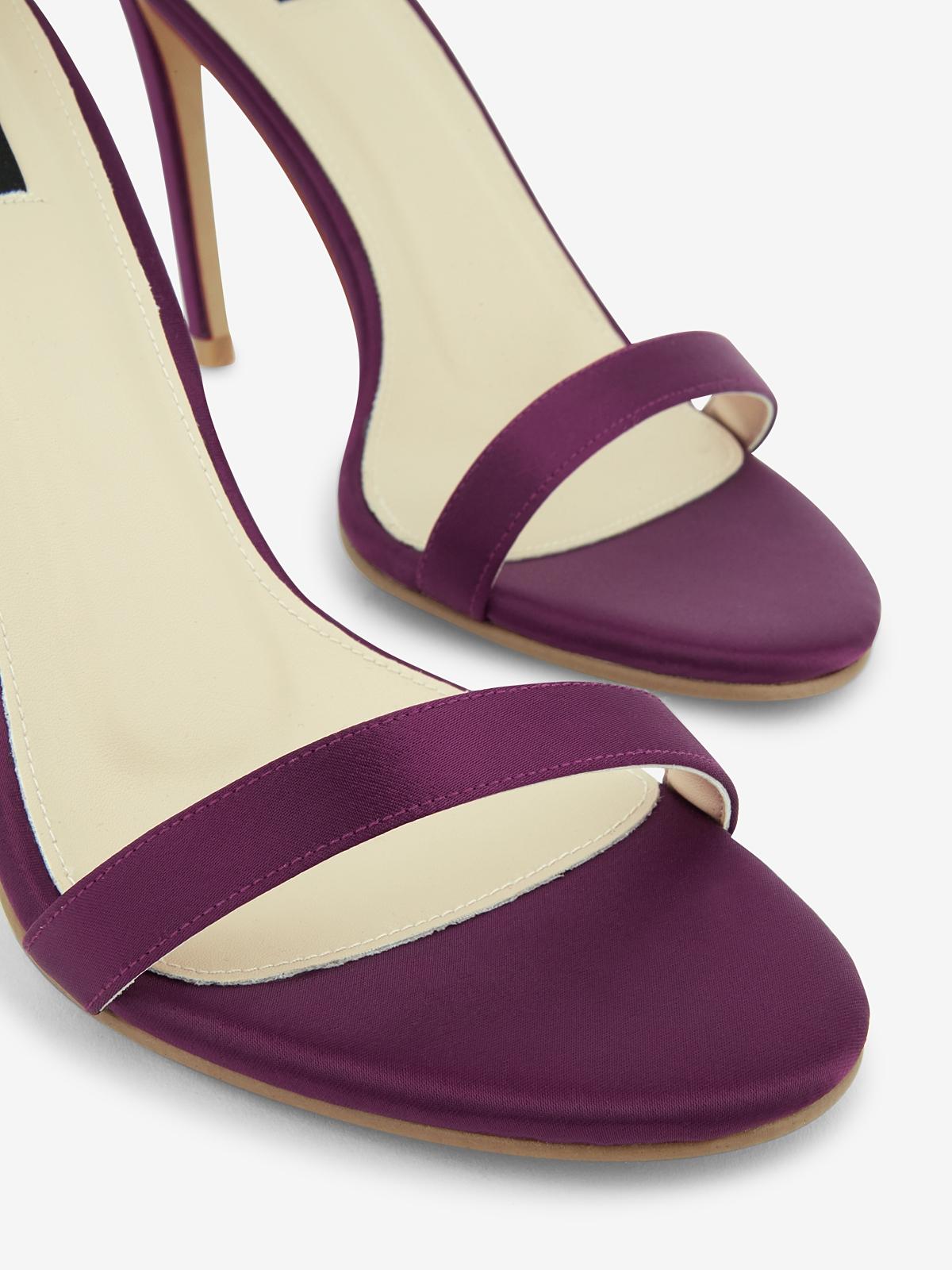 Rarinn Bow Strapy Heels Purple