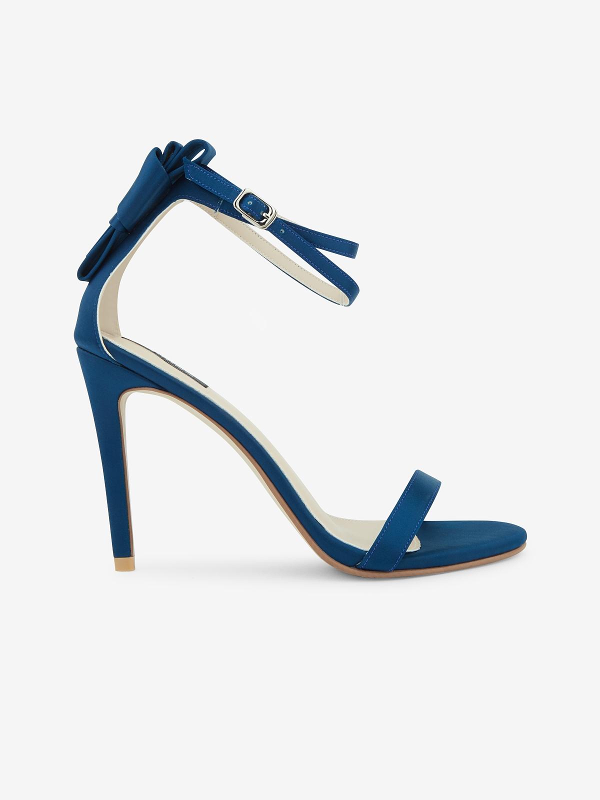 Rarinn Bow Strapy Heels Royal Blue