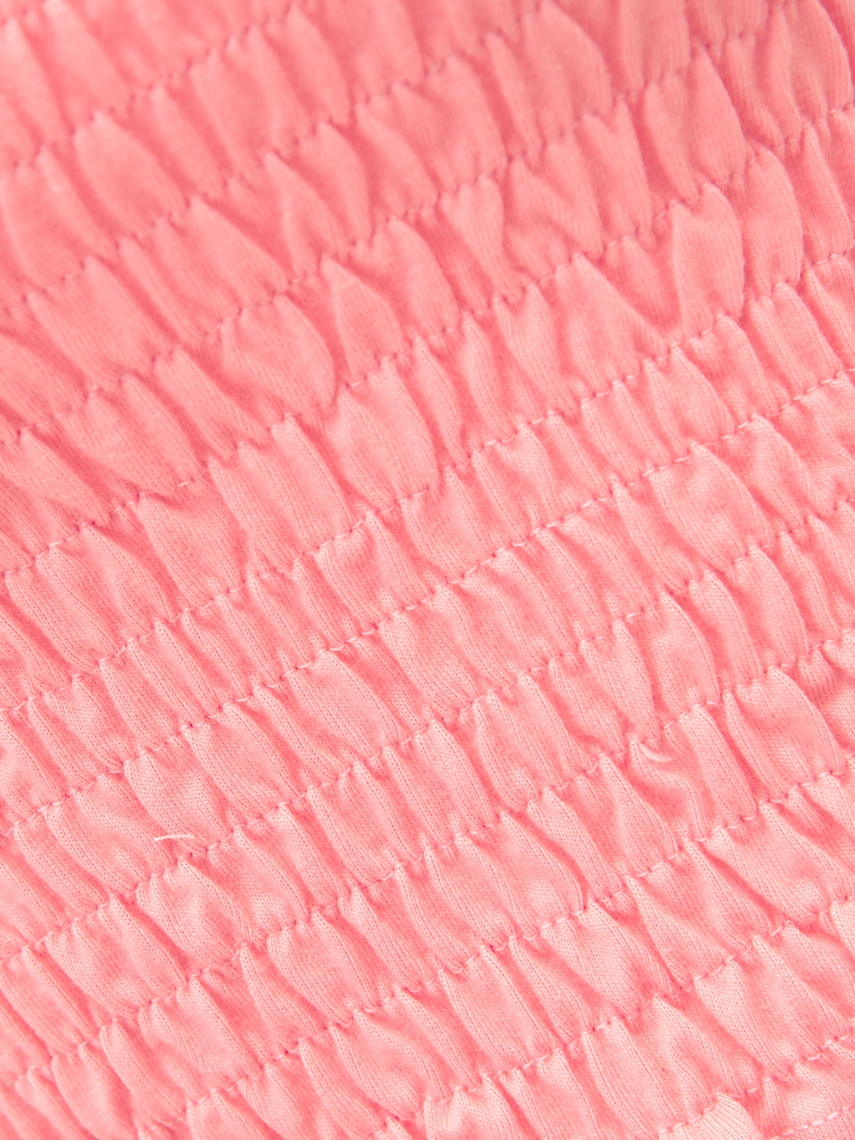 Off Shoulder Smock Crop Top Pink