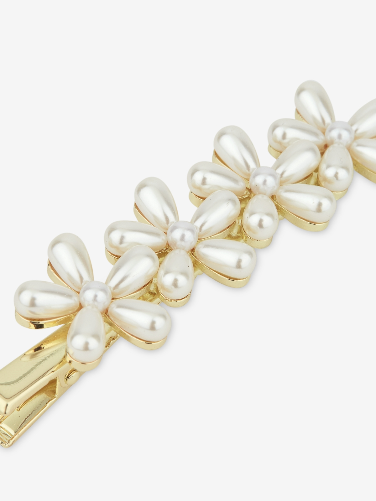 Oversized Flower Pearl Hairclip Pearl