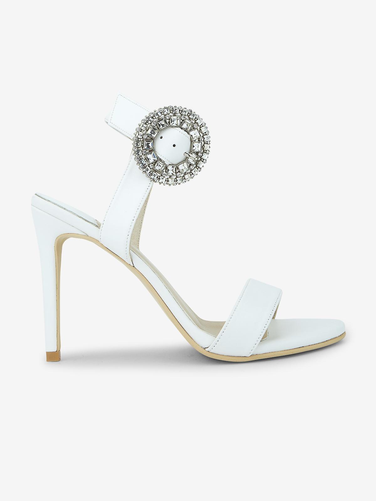 Rarinn Ayla Ankle Strap Heels White