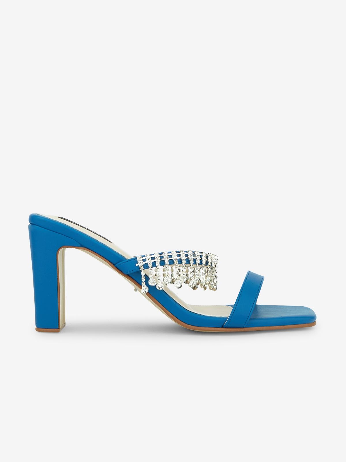 Rarinn Diamante Strap Heels Blue