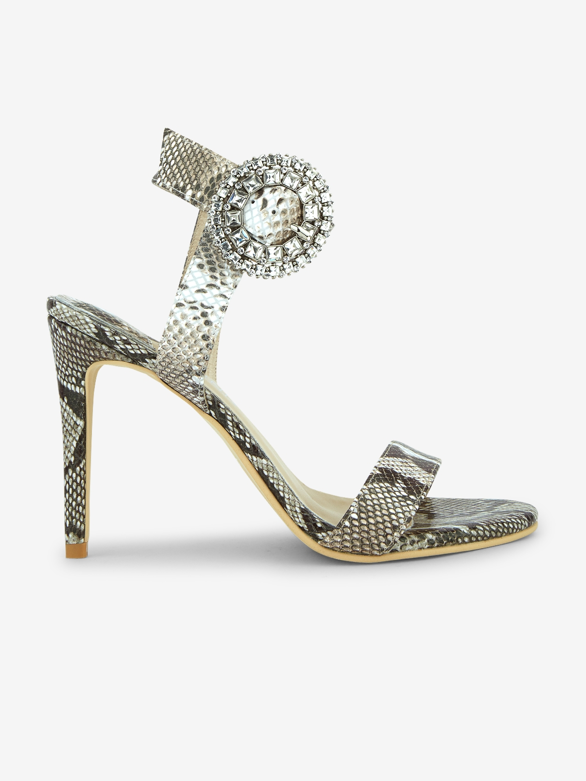 Rarinn Ayla Ankle Strap Heels Print