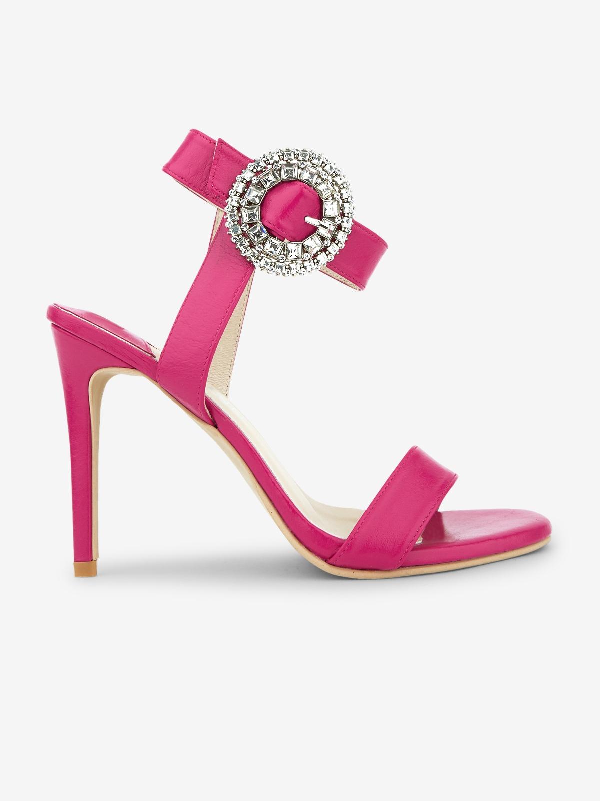 Rarinn Ayla Ankle Strap Heels Hot Pink