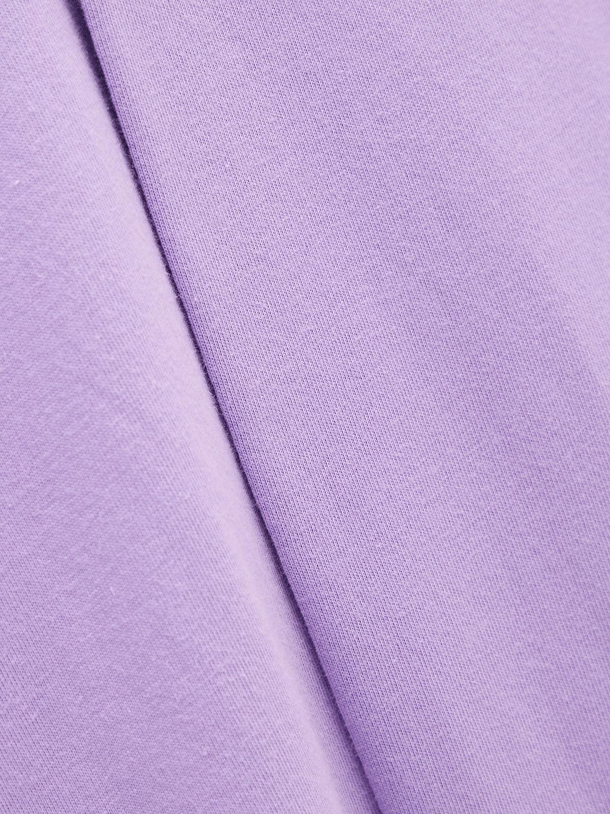 Neck Cut Out Asymmetrical Tee Purple