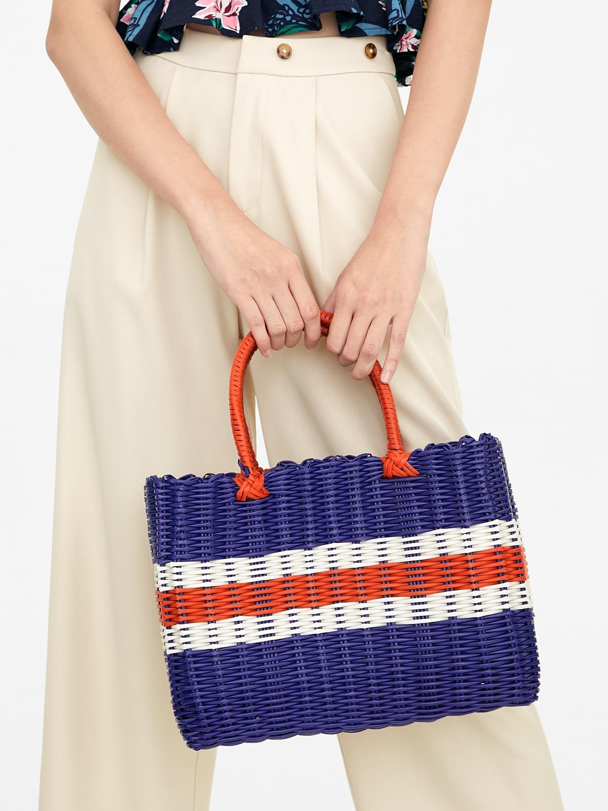 Marnie Gardener Basket Bag Navy