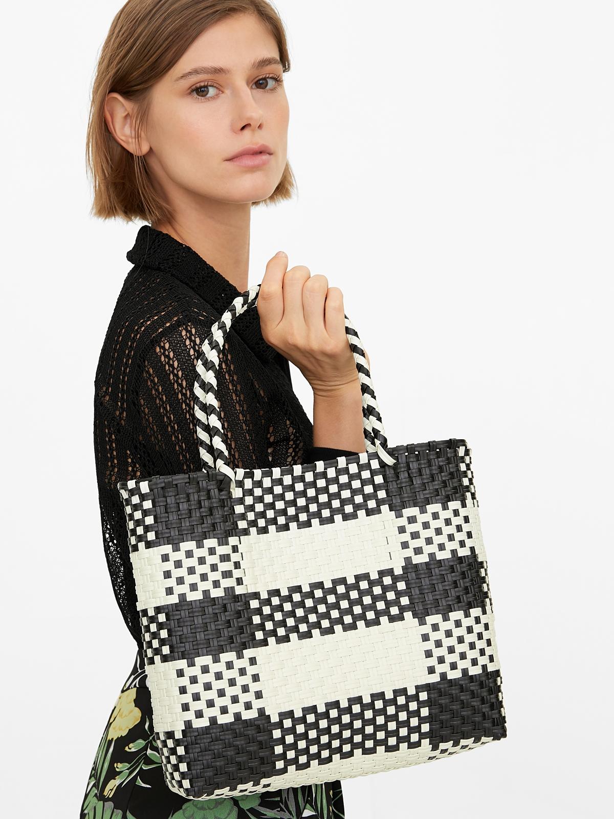 Marnie Gardener Small Basket Bag BlackWhite