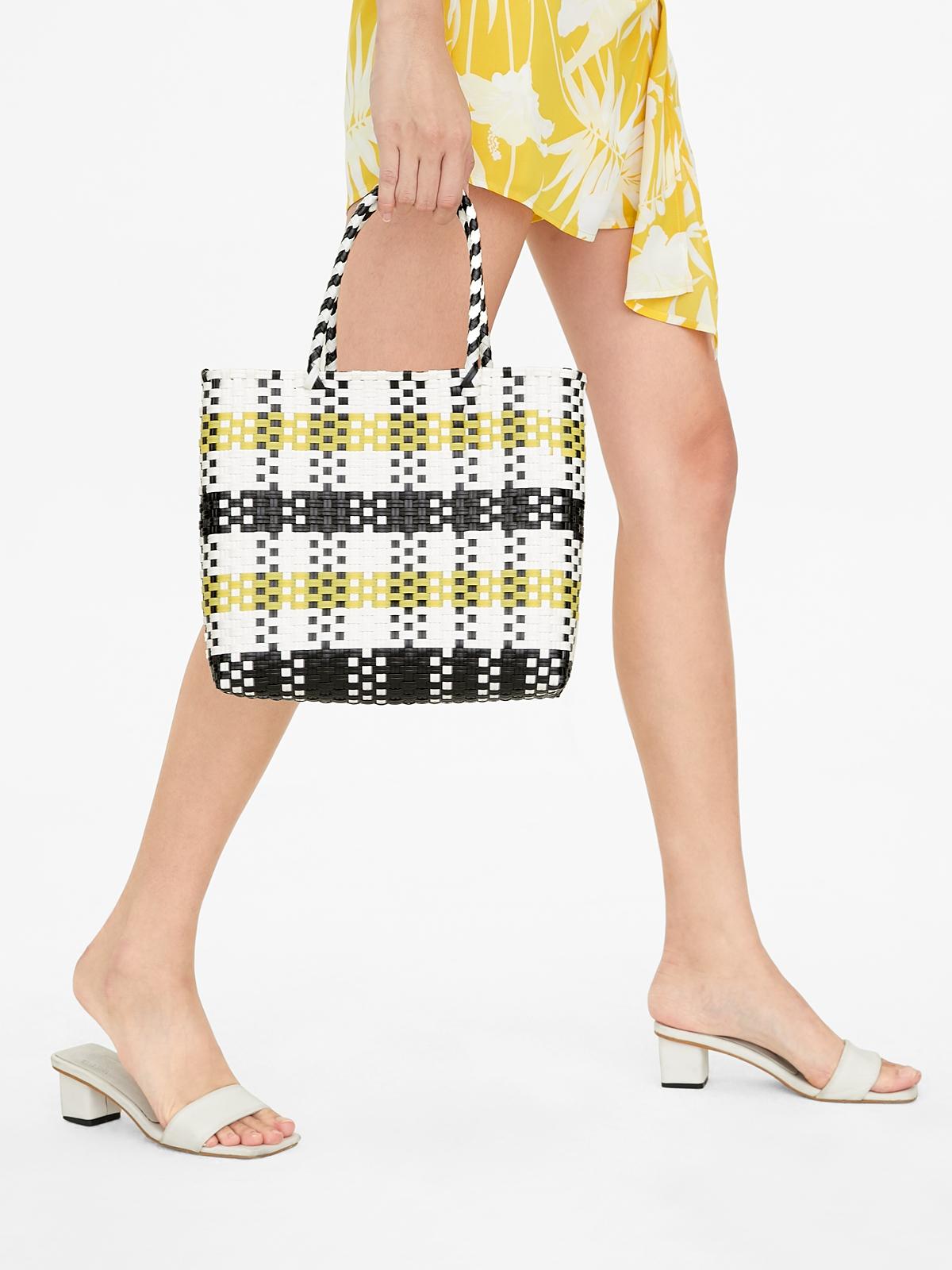 Marnie Gardener Small Basket Bag Yellow