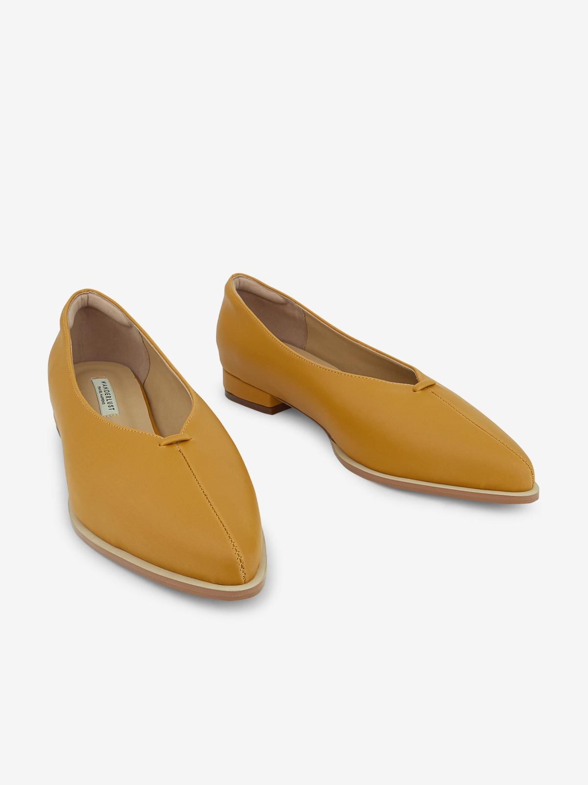 Wanderlust Ballet Shine Flats Mustard