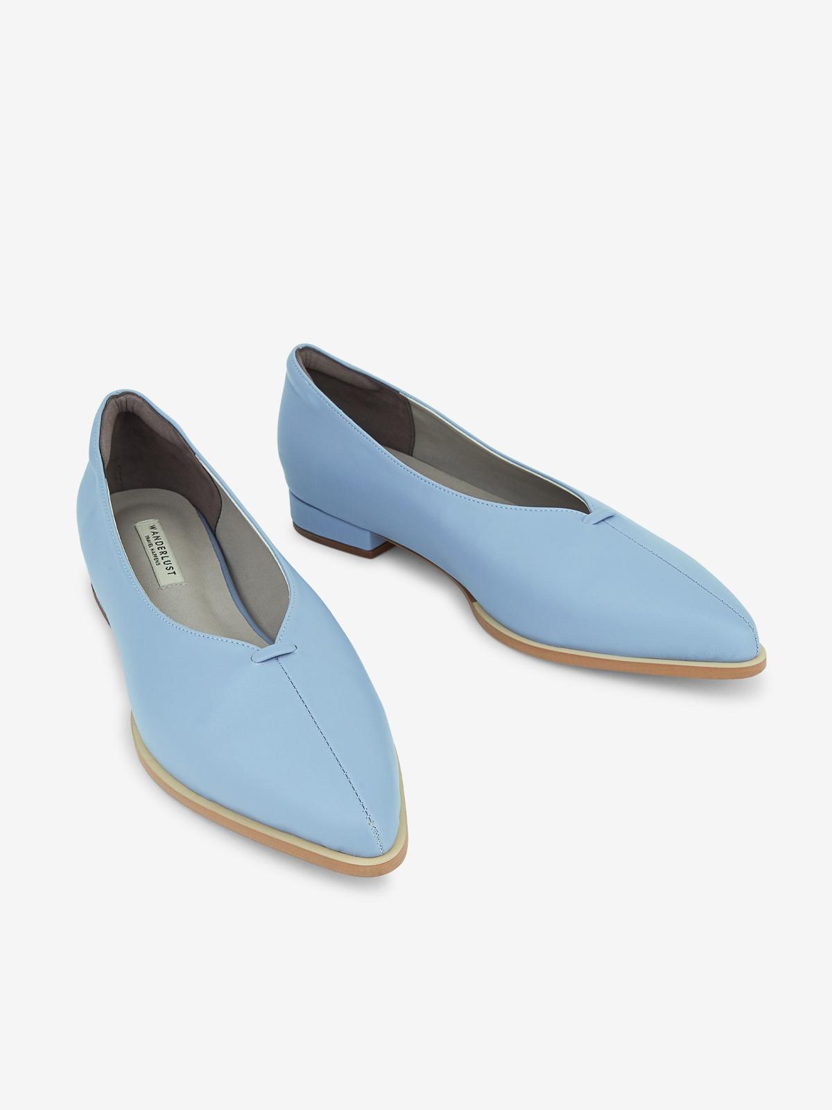 Wanderlust Ballet Shine Flats Blue