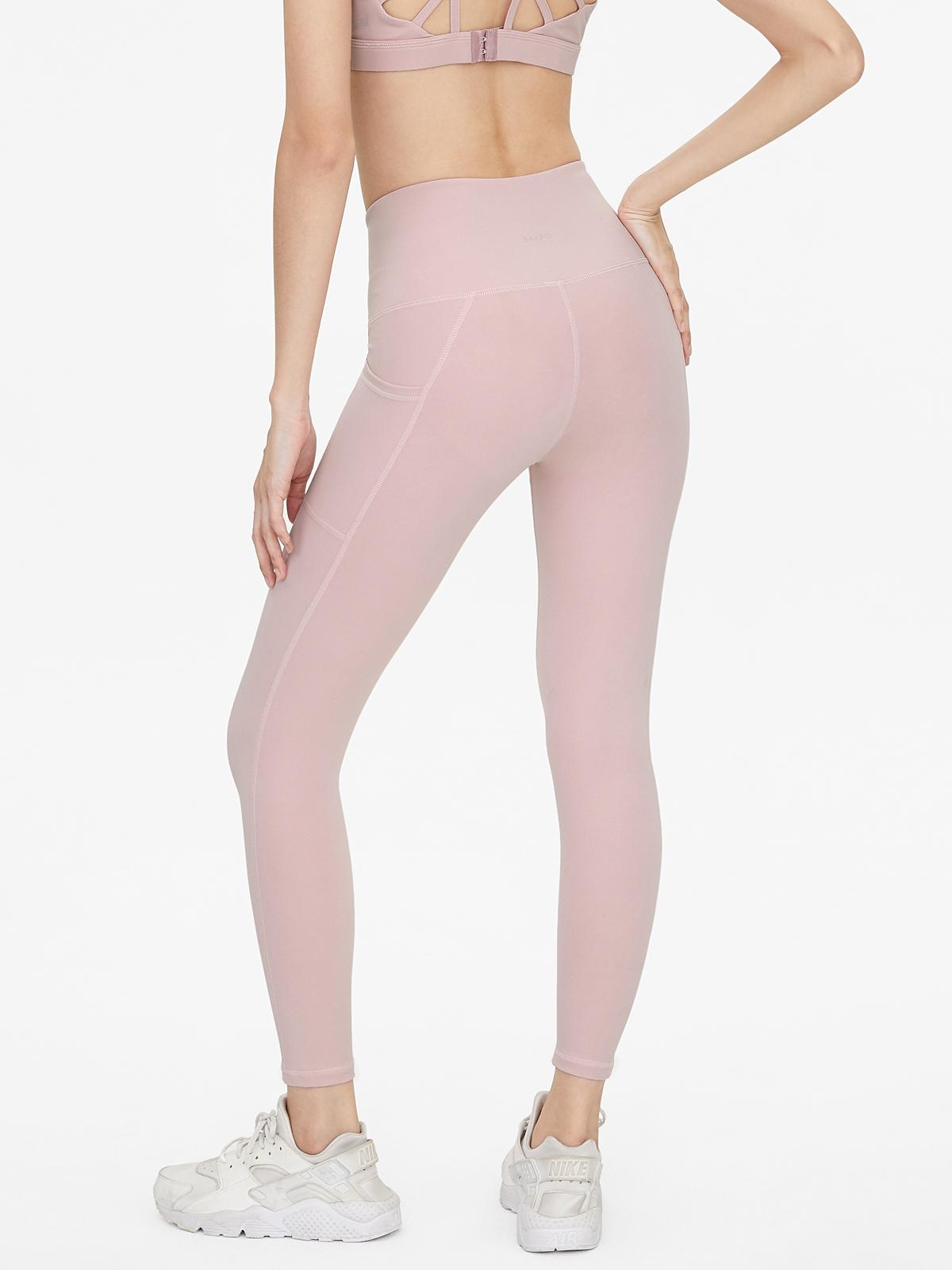 BKKFit Premium V Cut Leggings Pink