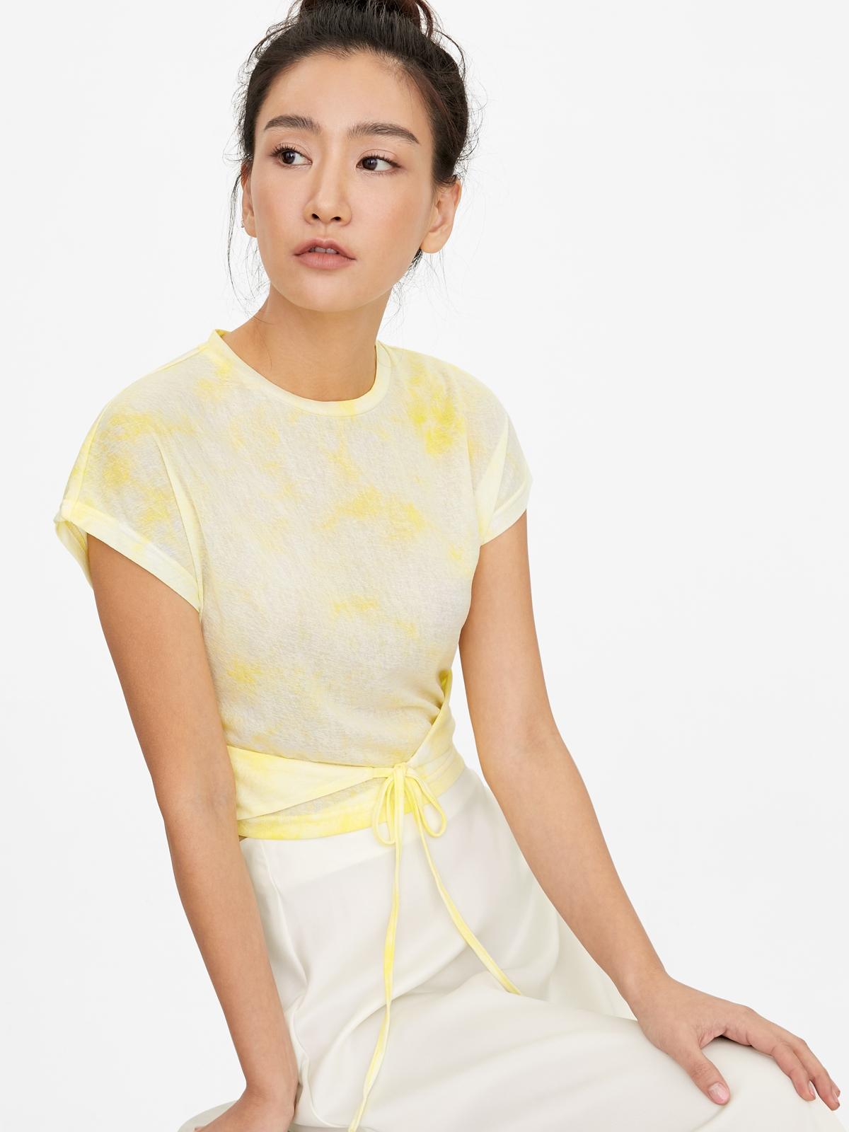 Loose Tie Dye Tee Yellow
