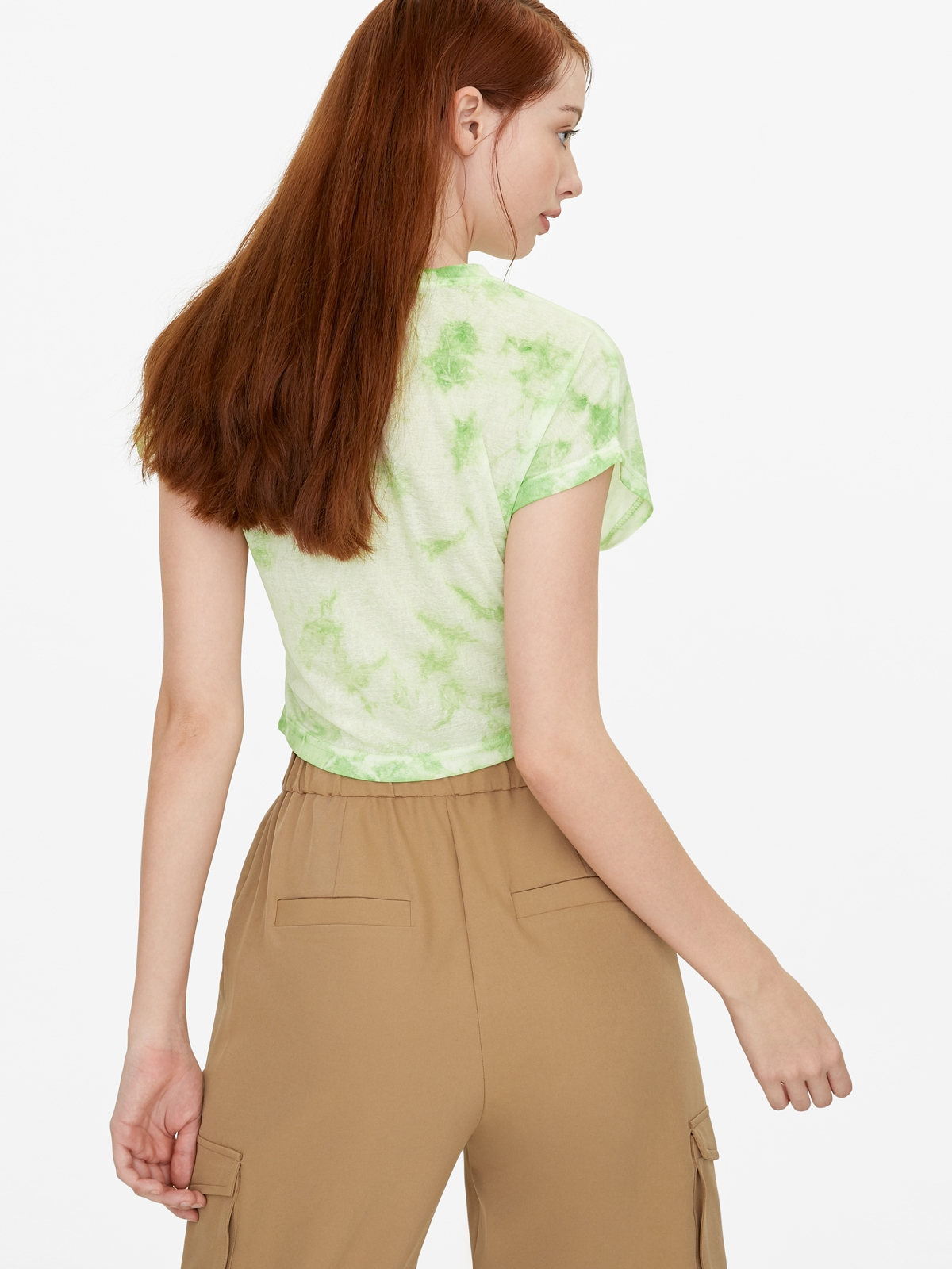 Loose Tie Dye Tee Green
