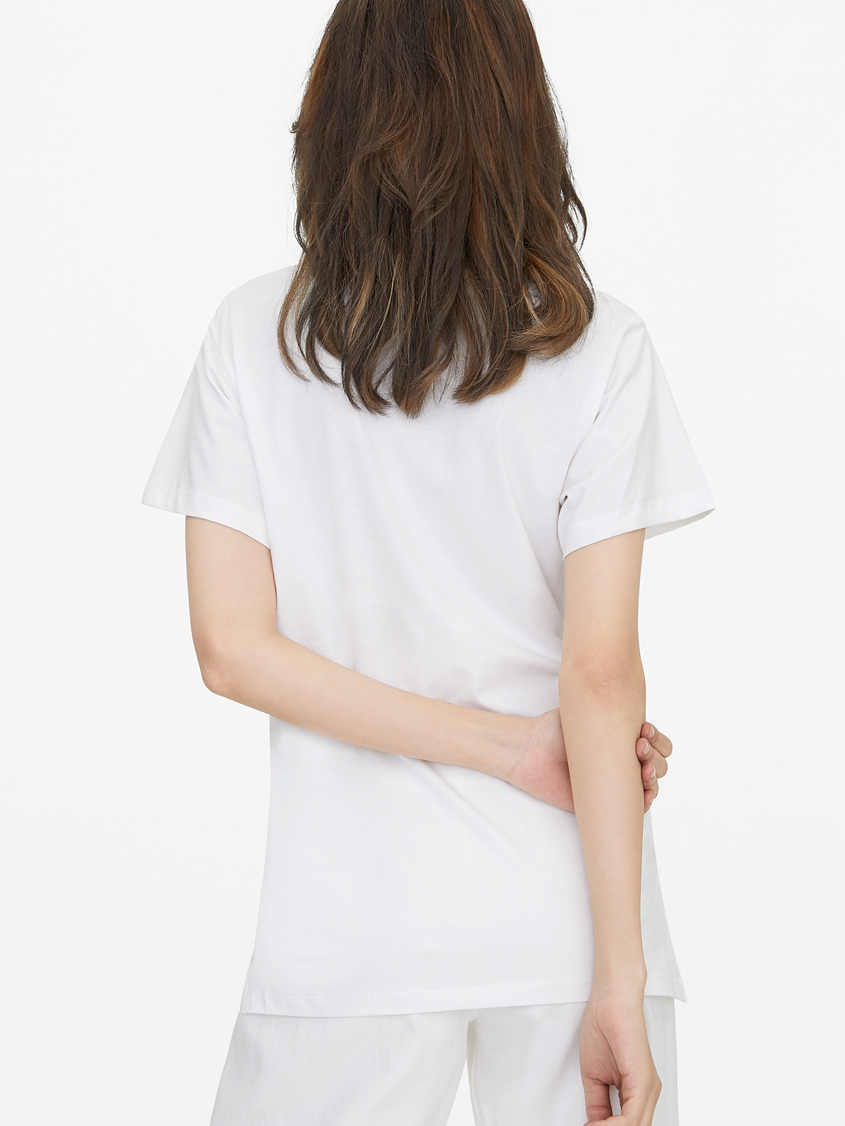 Oversized Side Knot Tee White