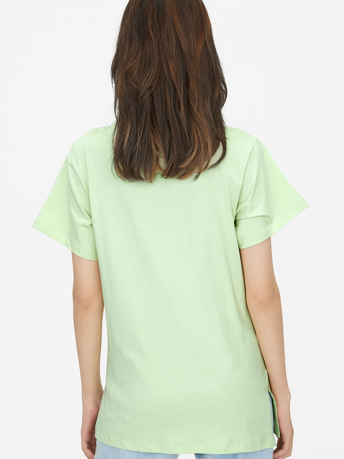 Oversized Side Knot Tee Green