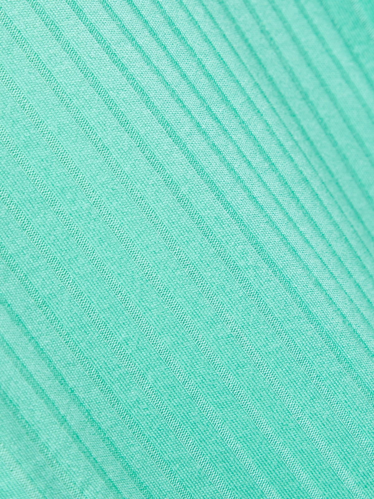 Two Tone Ribbed Tee Mint