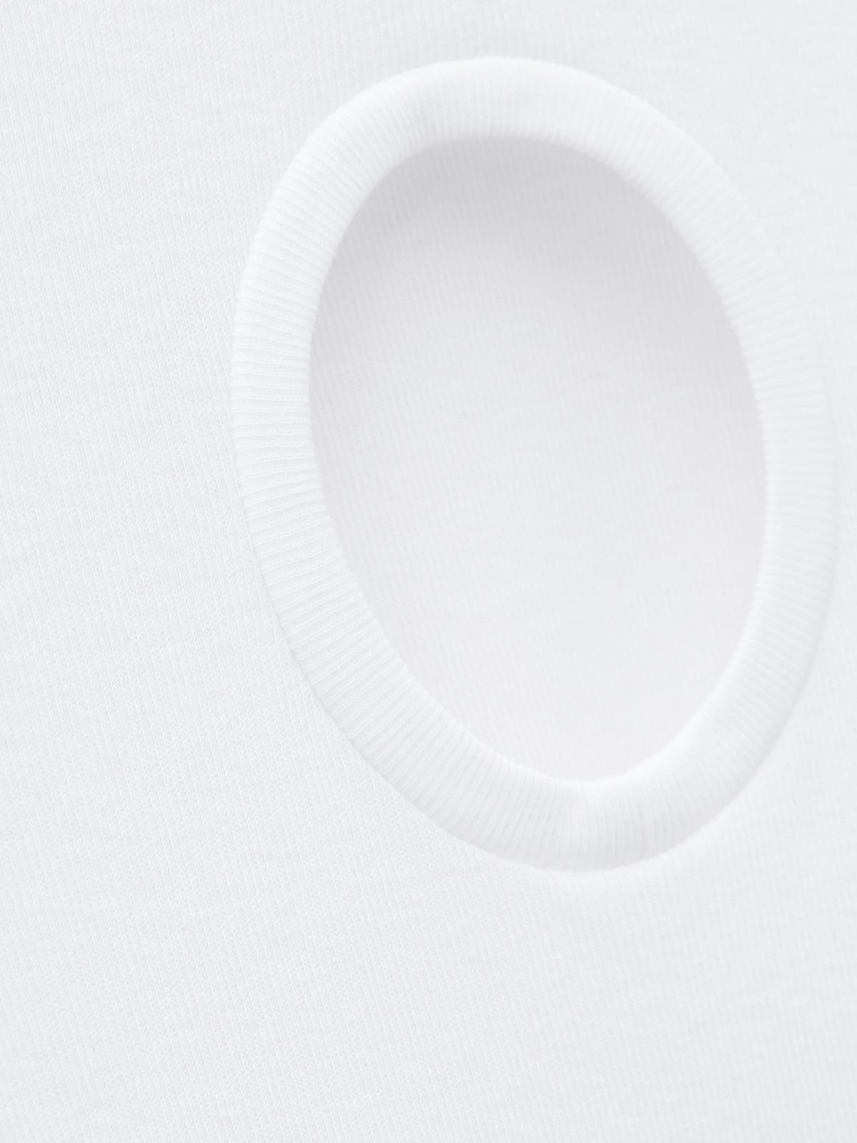 Circle Cut Out Tee White