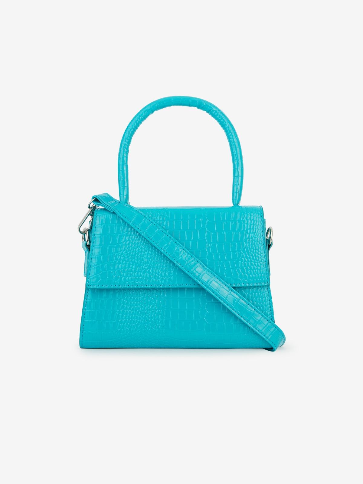 Oversized Handle Crossbody Bag Blue