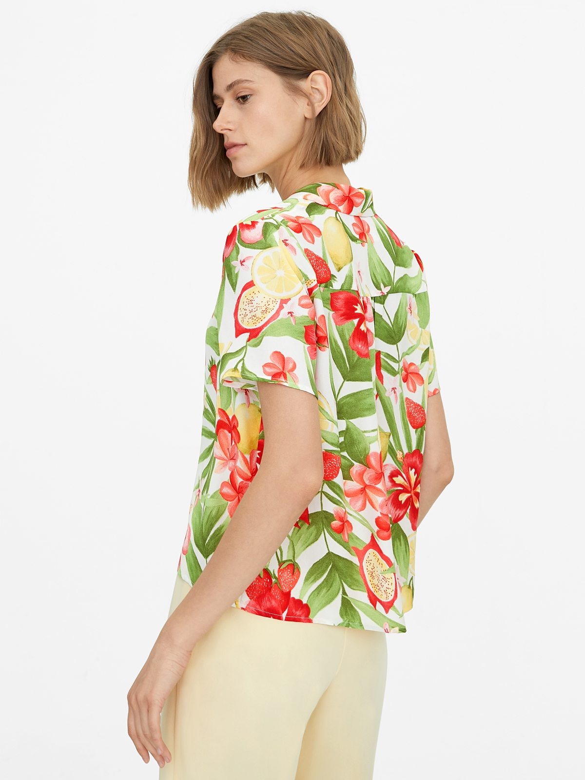 Buttoned Down Floral Shirt White