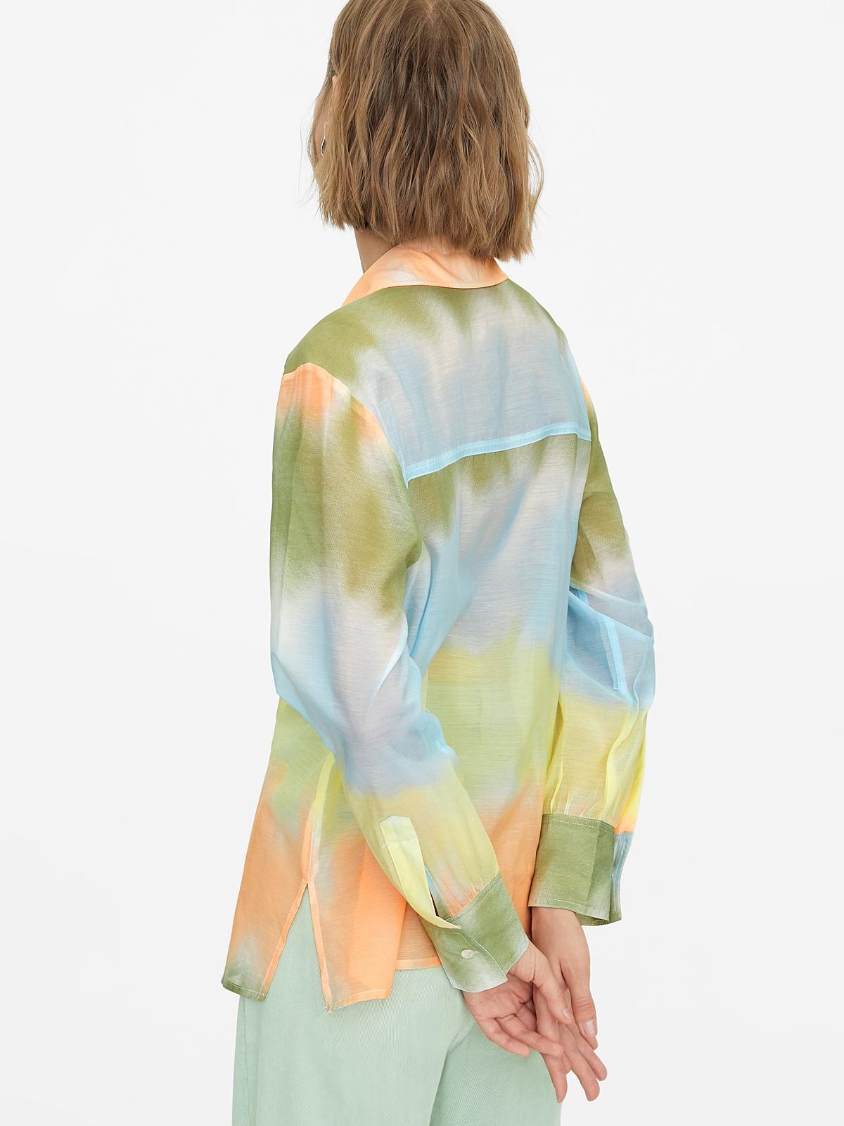 Buttoned Tie Dye Shirt Multicolor
