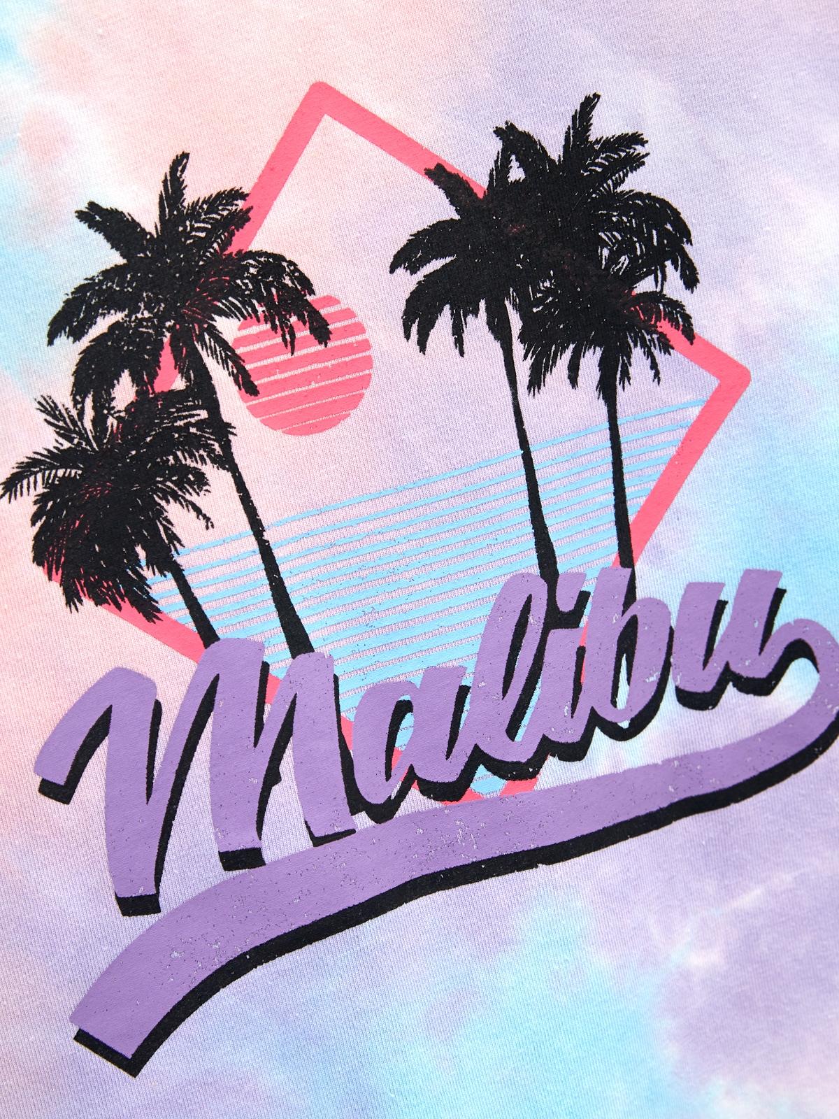 Malibu Tie Dye Graphic Tee Purple