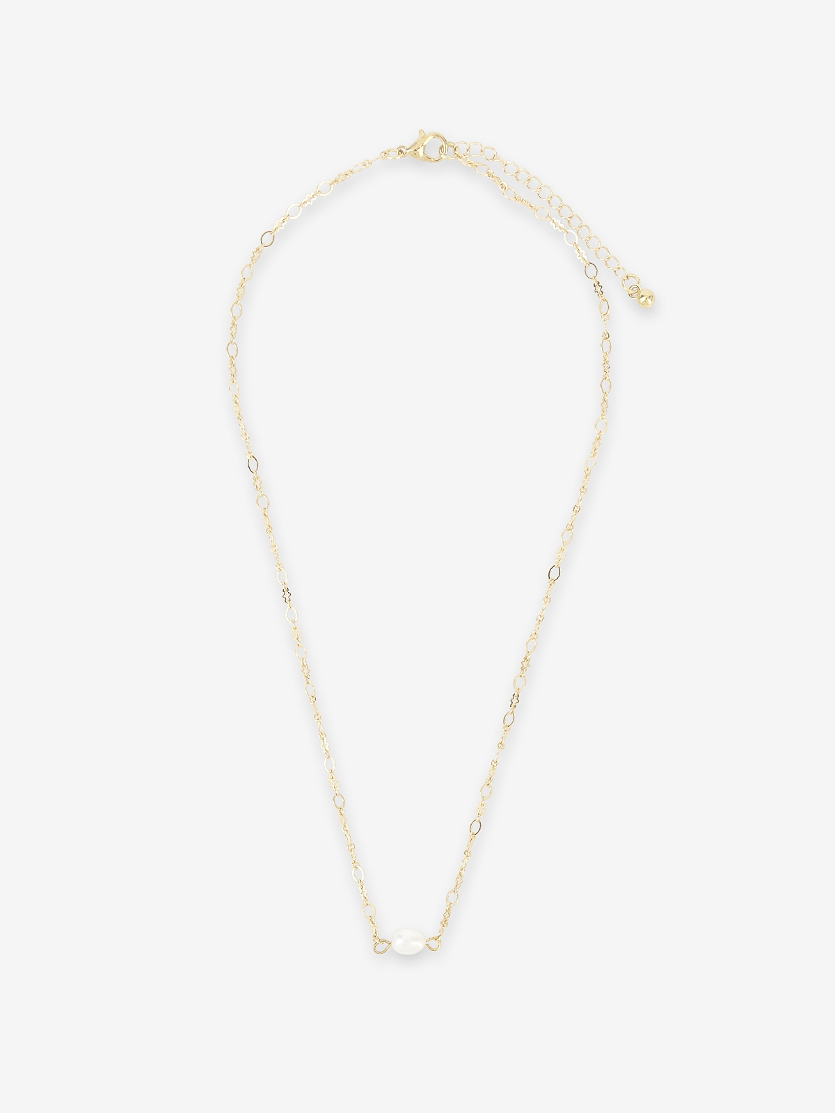 Pearl Pendant Chain Necklace Gold
