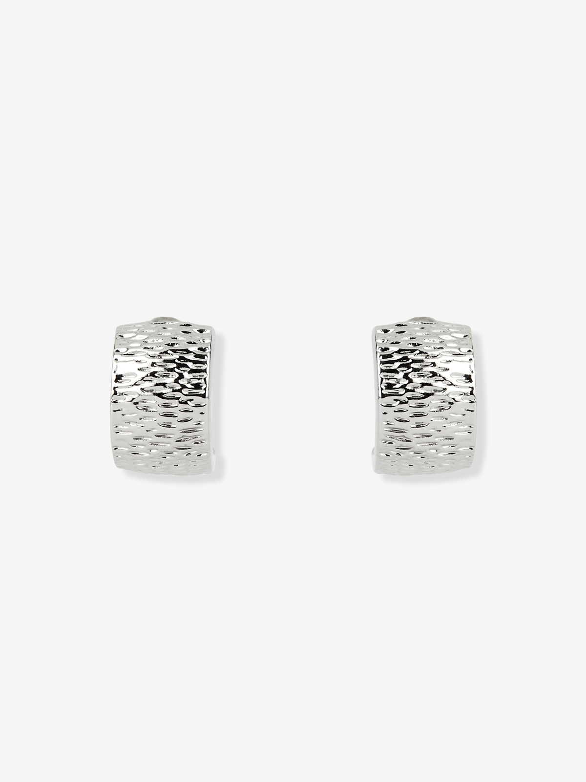 Curve Plated Earrings Silver