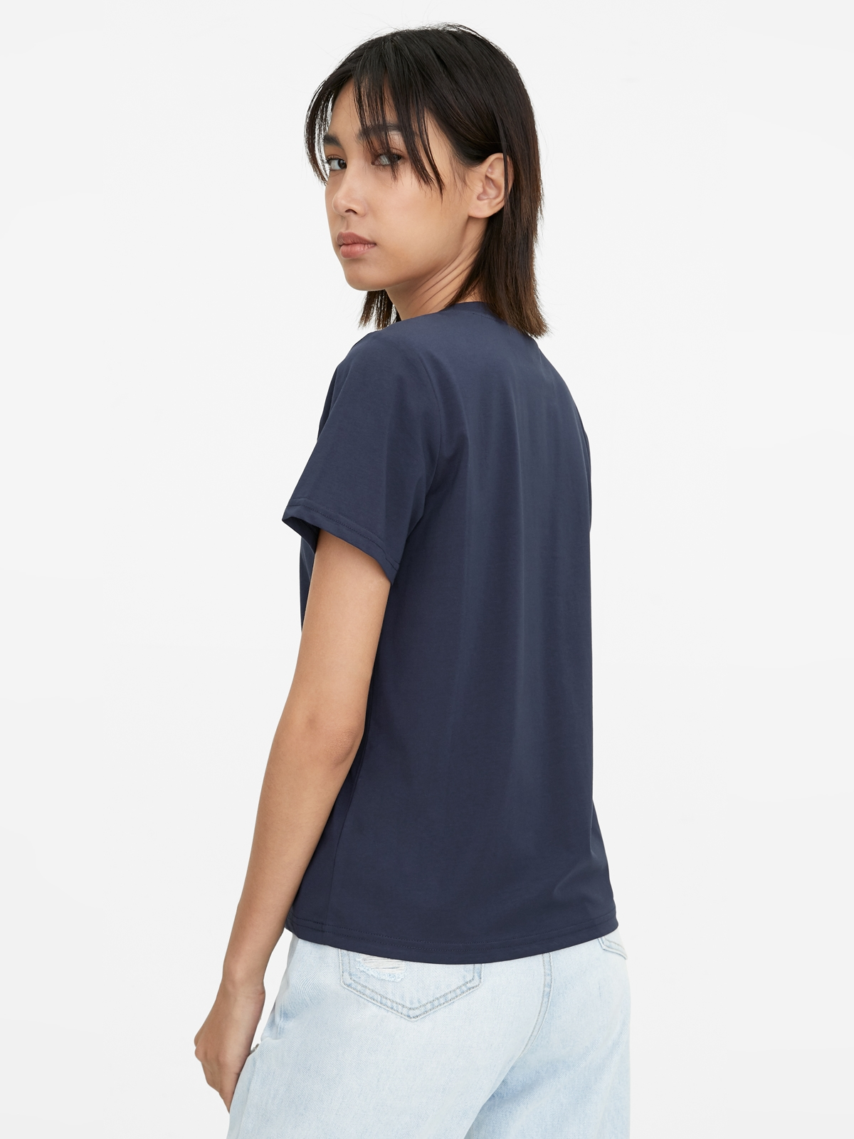 Trouble Maker Graphic Tee Navy