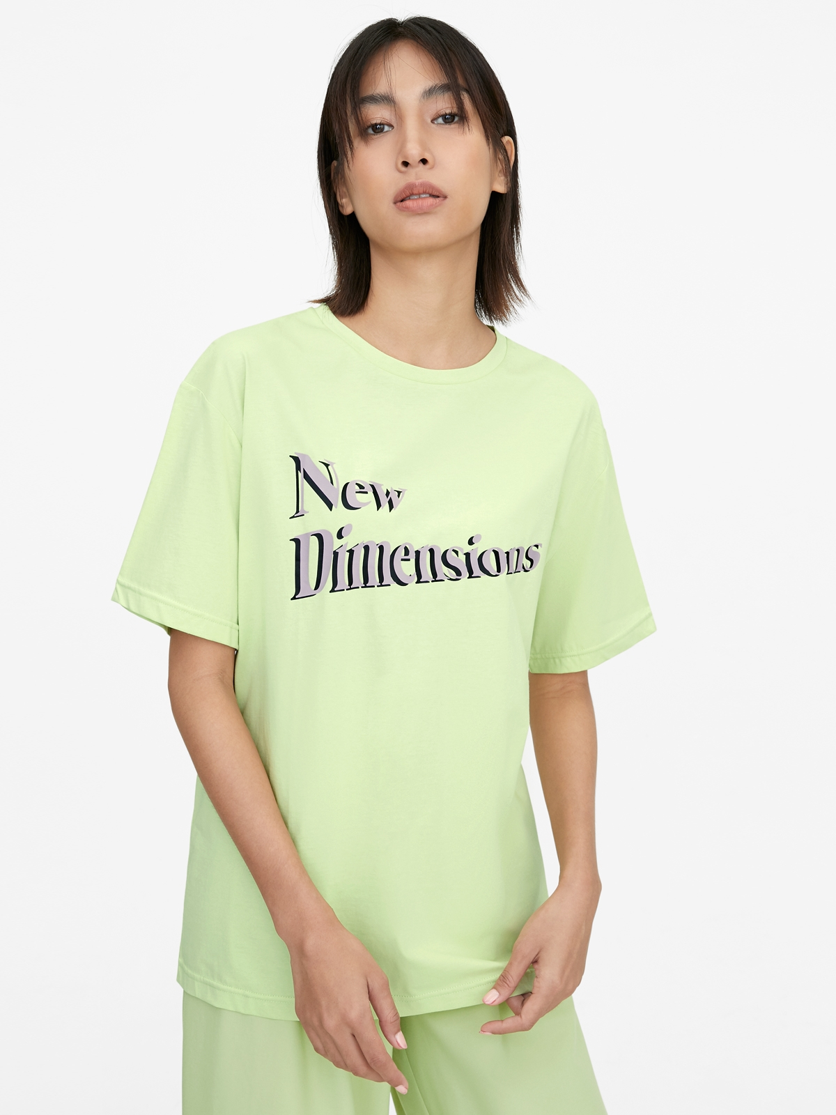 New Dimensions Graphic Tee Green