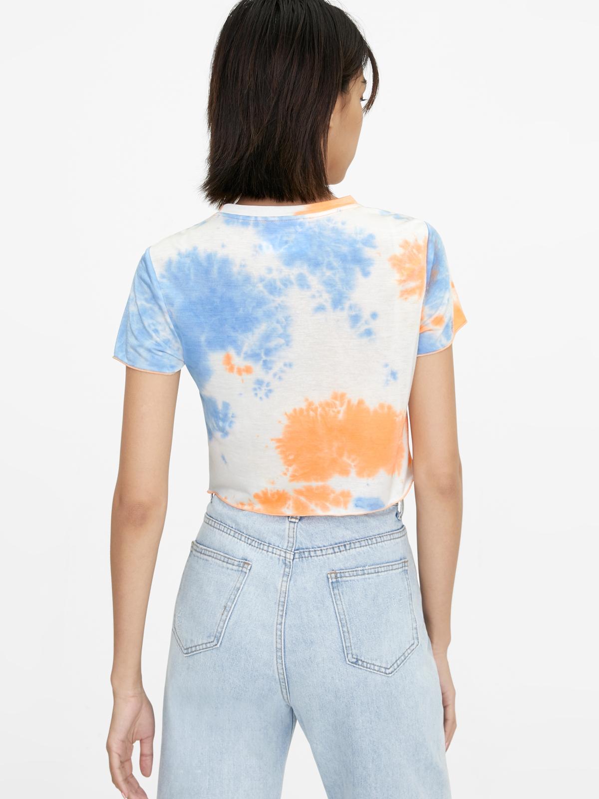 Pastel Tie Dye Crop Top Orange