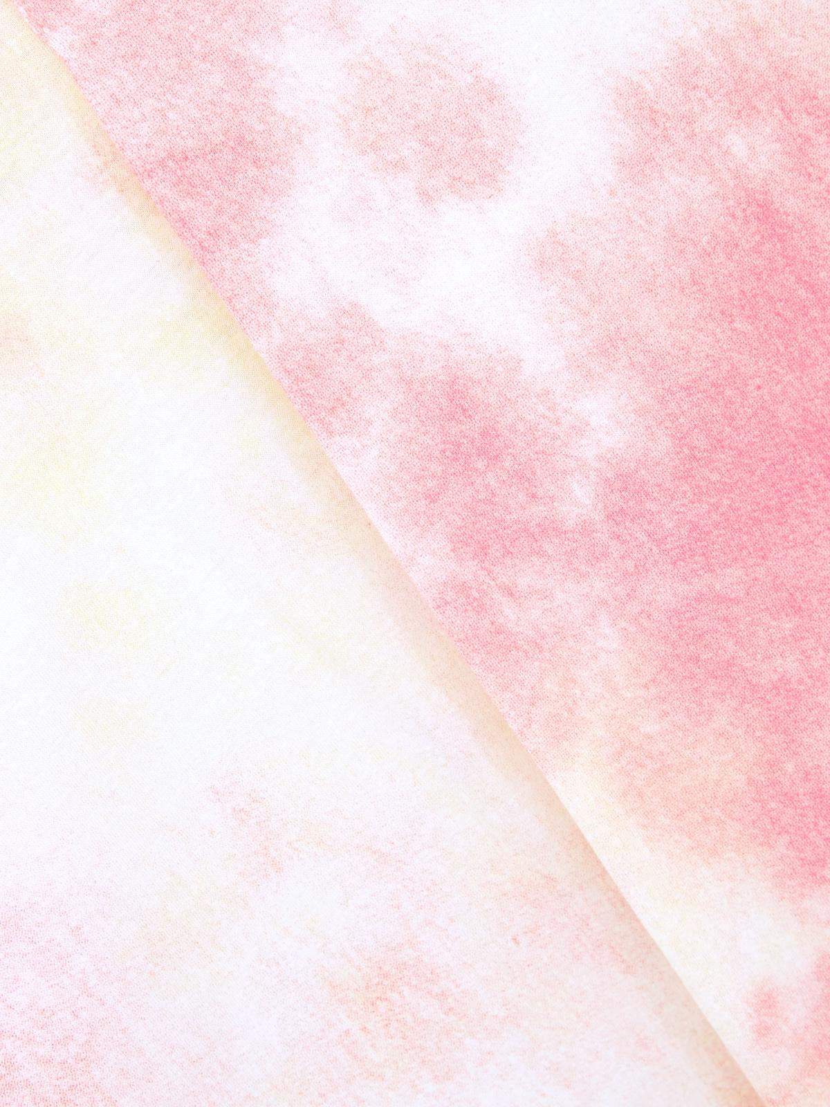 Asymmetric Neck Tie Dye Tee Pink