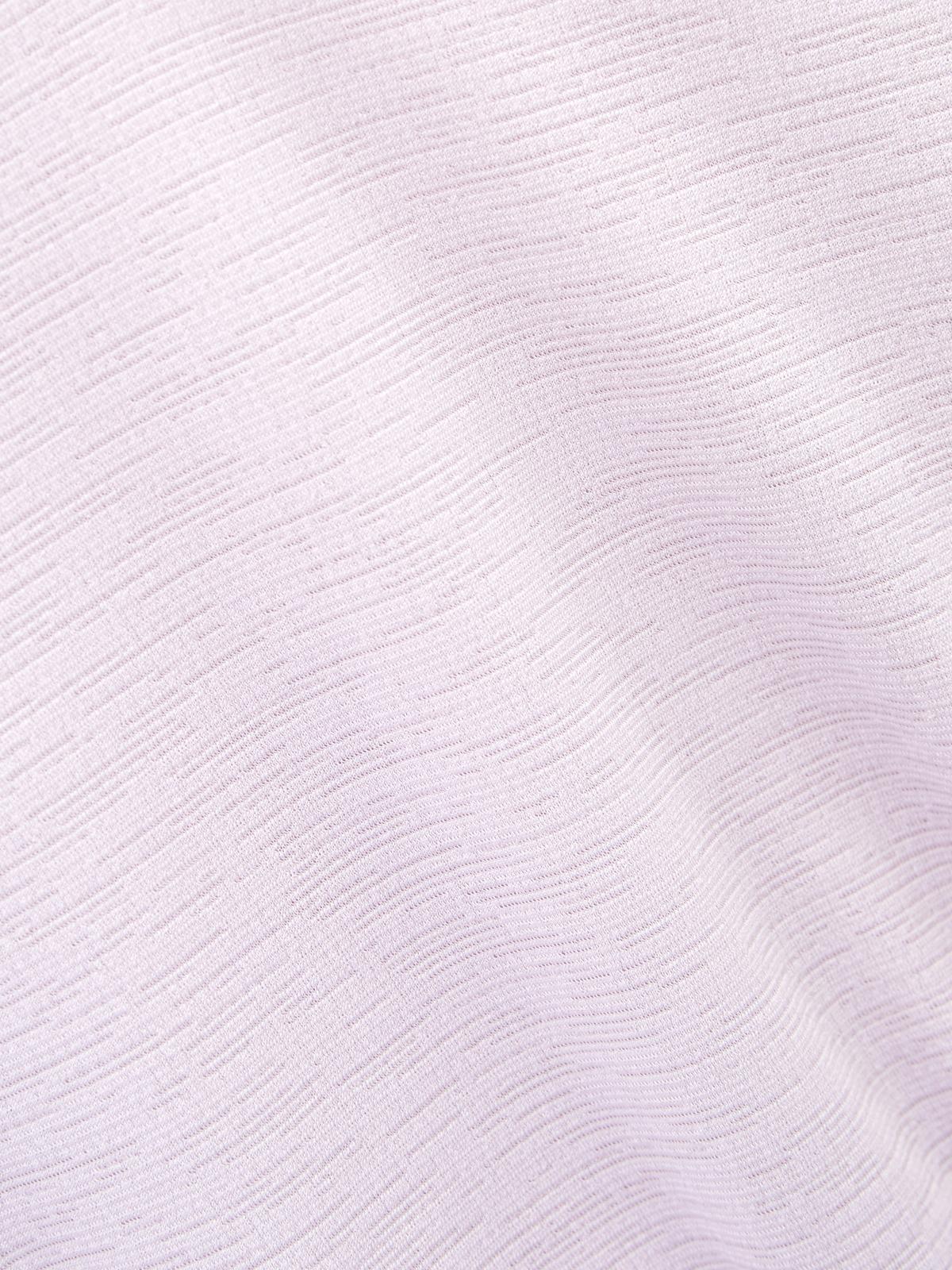 Cropped V Neck Ruched Hemline Tee Lavender