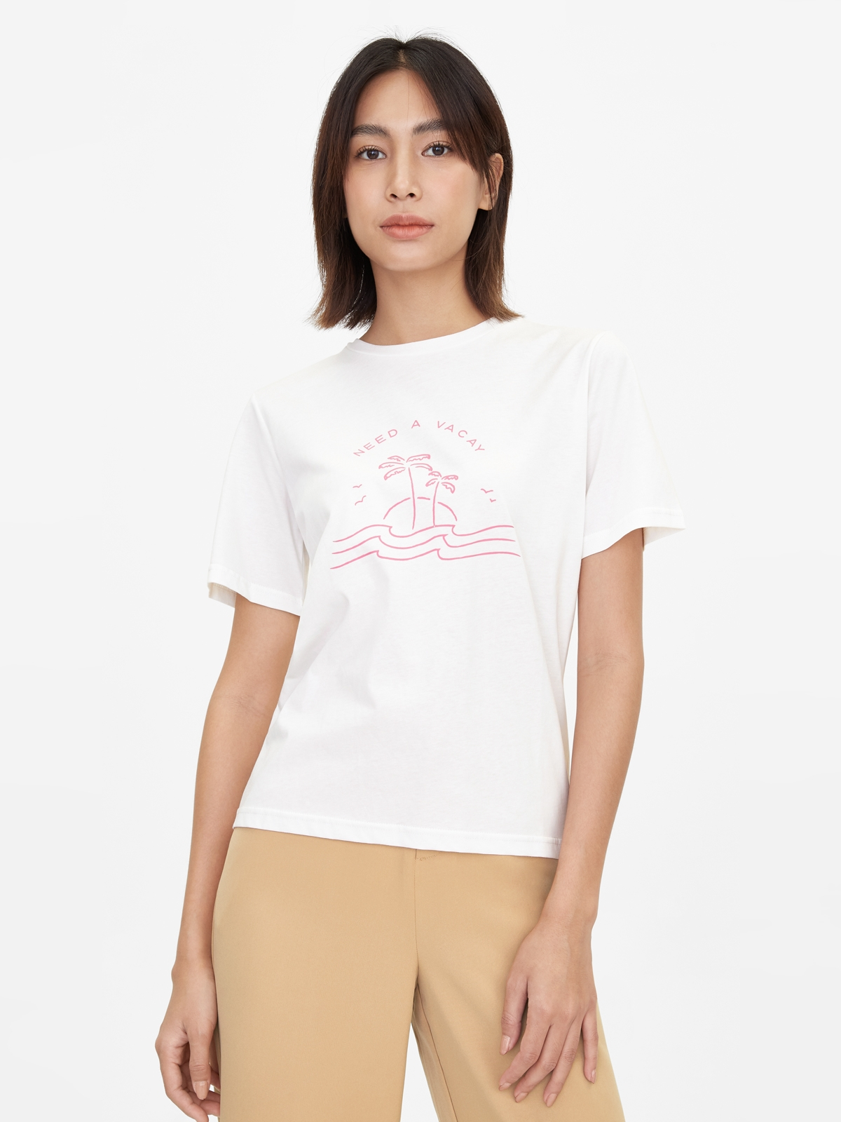 Vacationing 247 Graphic Tee Pink