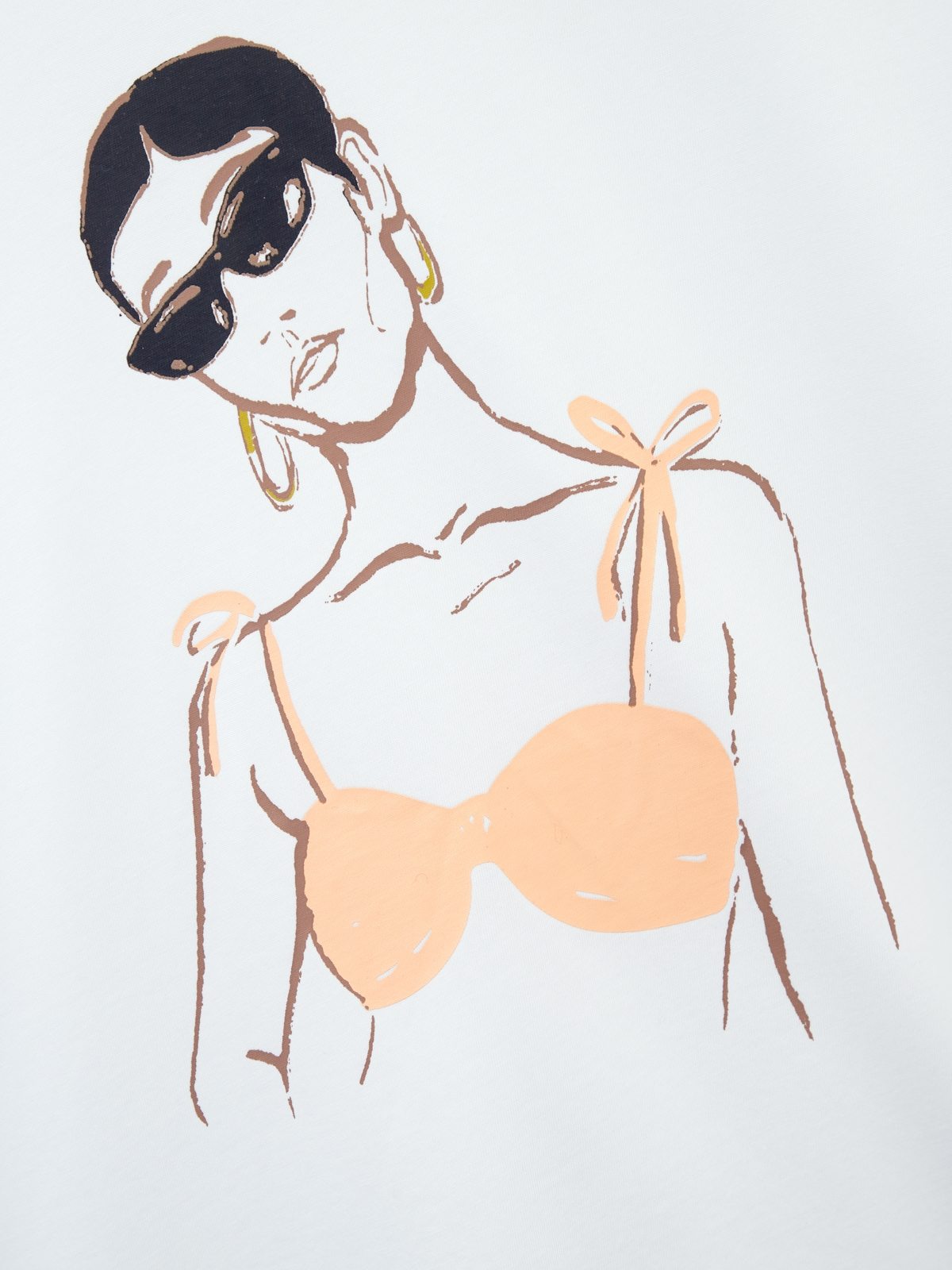 Woman In Sunglasses Graphic Tee White