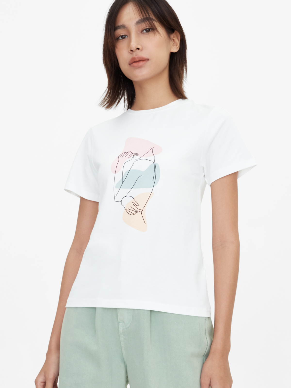 Woman Silhouette Graphic Tee OffWhite