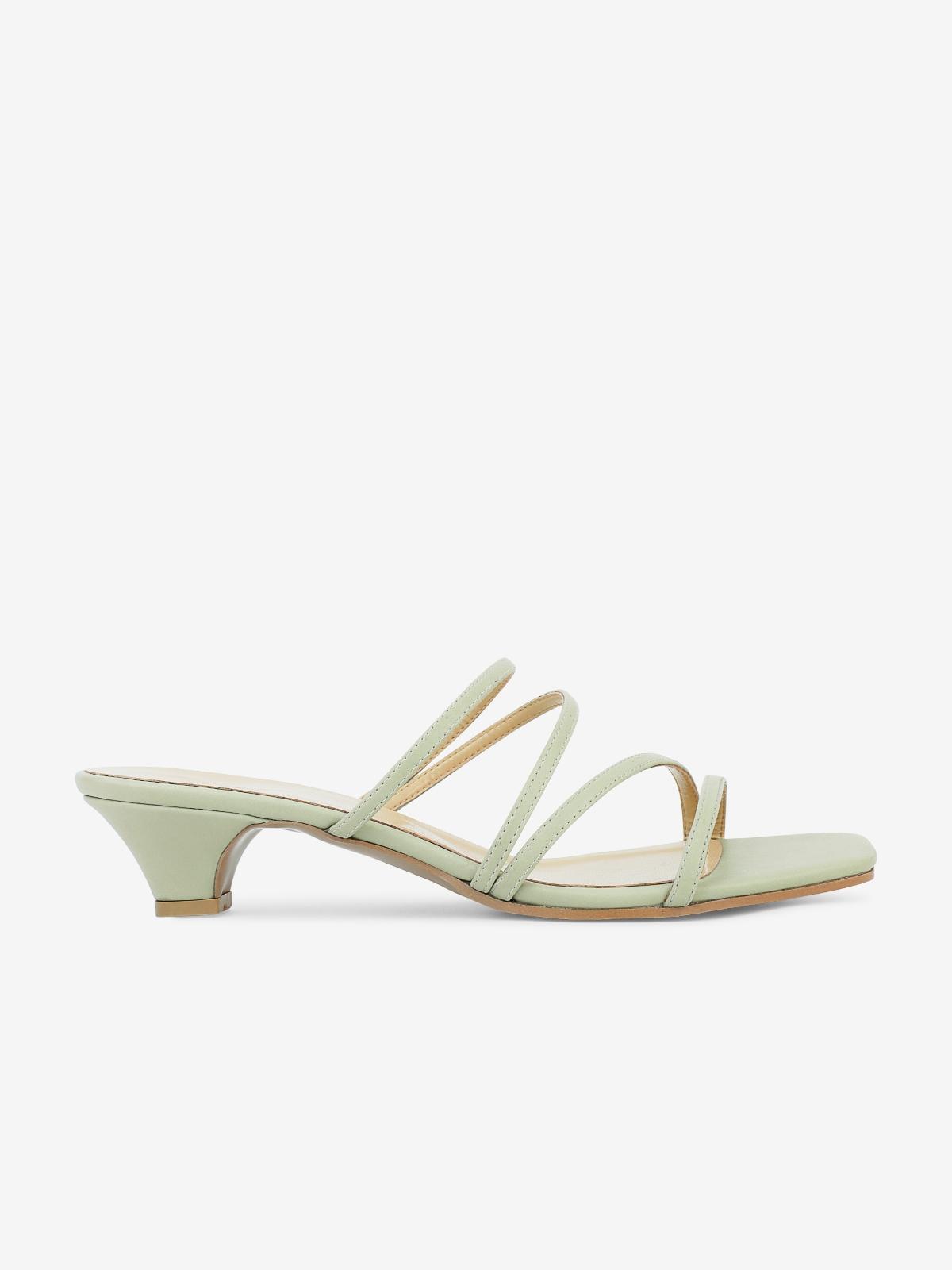 Philia Boutique P05 Kitten Heels Light Green