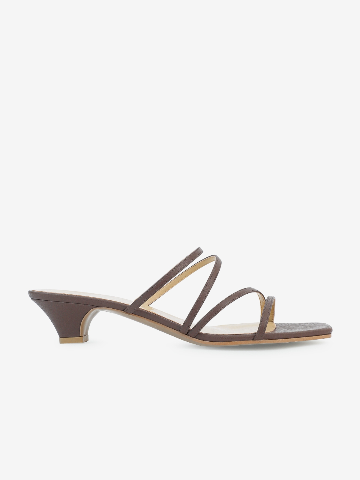 Philia Boutique P05 Kitten Heels Brown