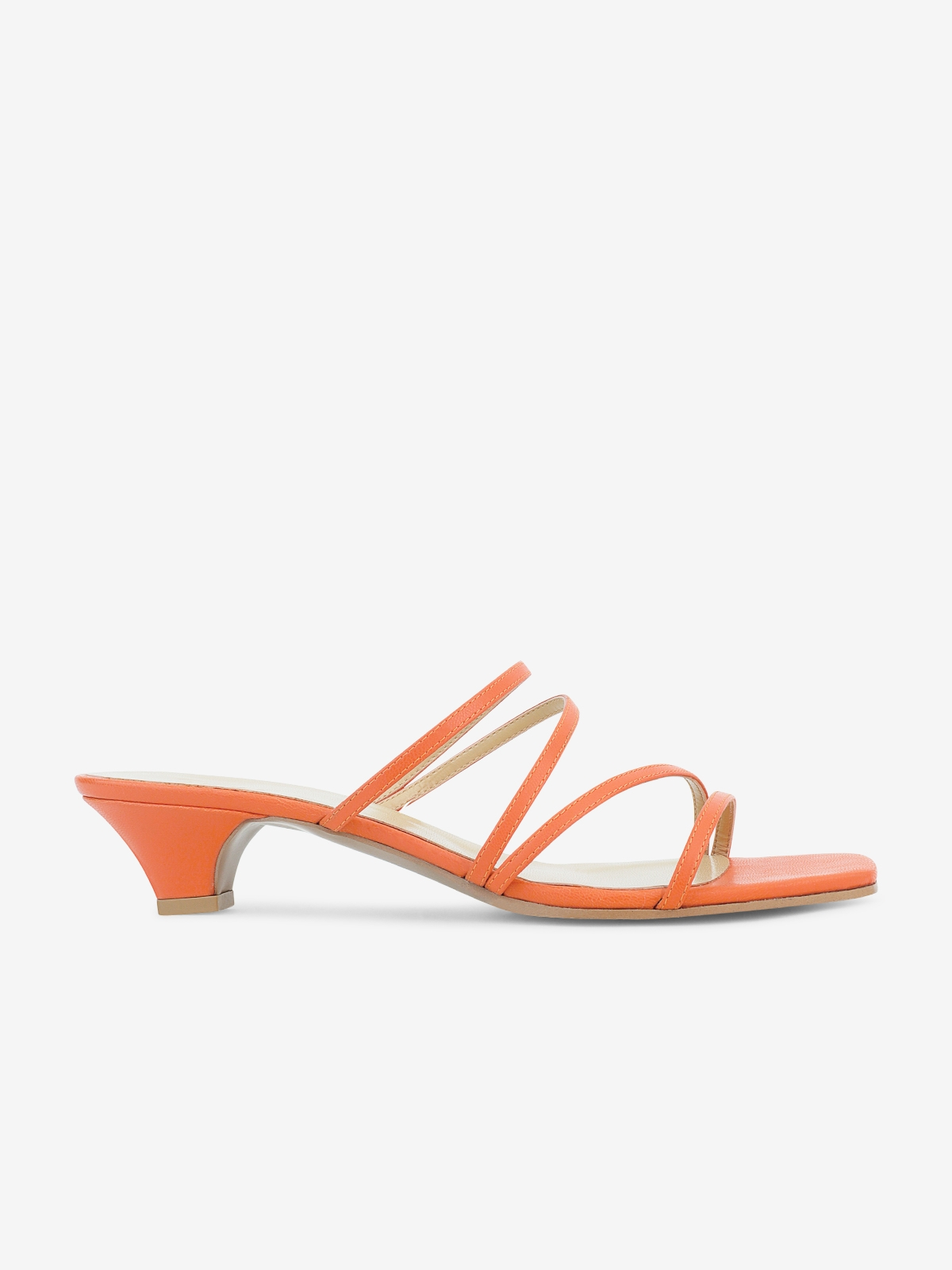 Philia Boutique P05 Kitten Heels Orange