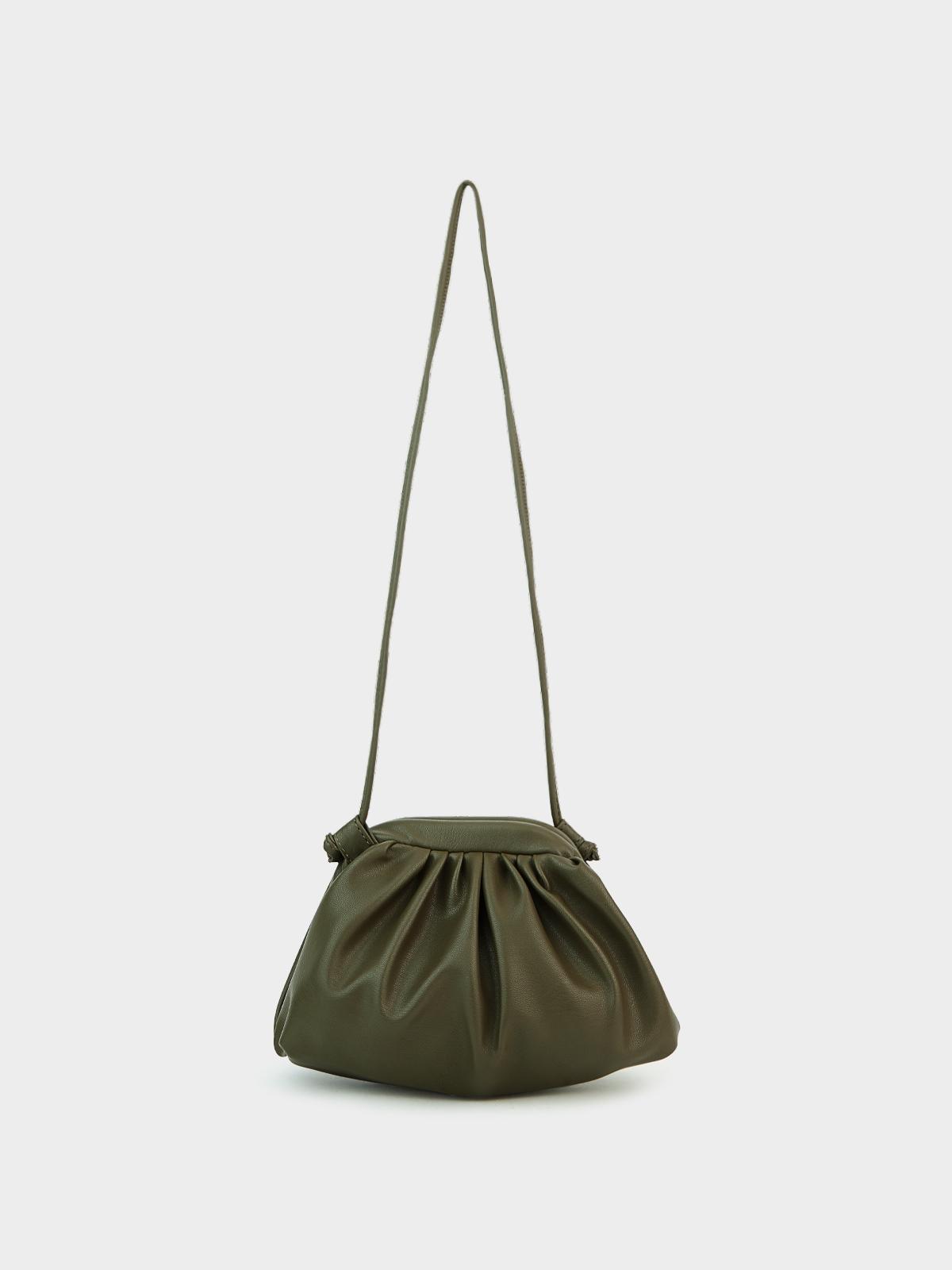 Mini Ruched Crossbody Bag Khaki