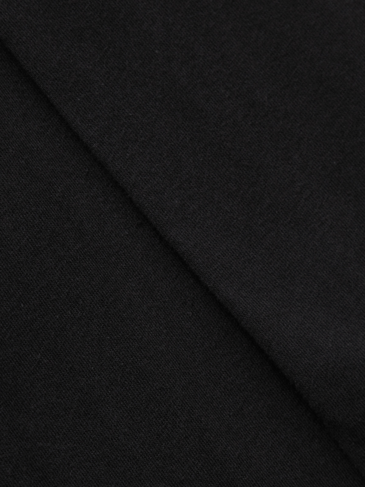 Neck Cut Out Asymmetrical Tee Black
