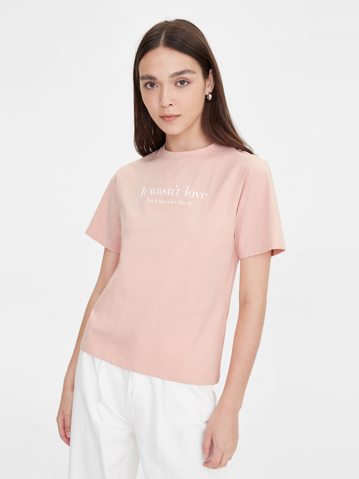 It Wasnt Love Graphic Tee Pink