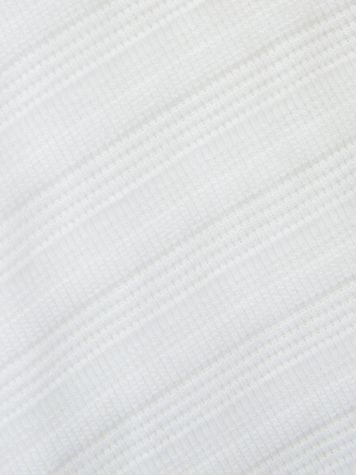 V Neck Ribbed Crop Top White