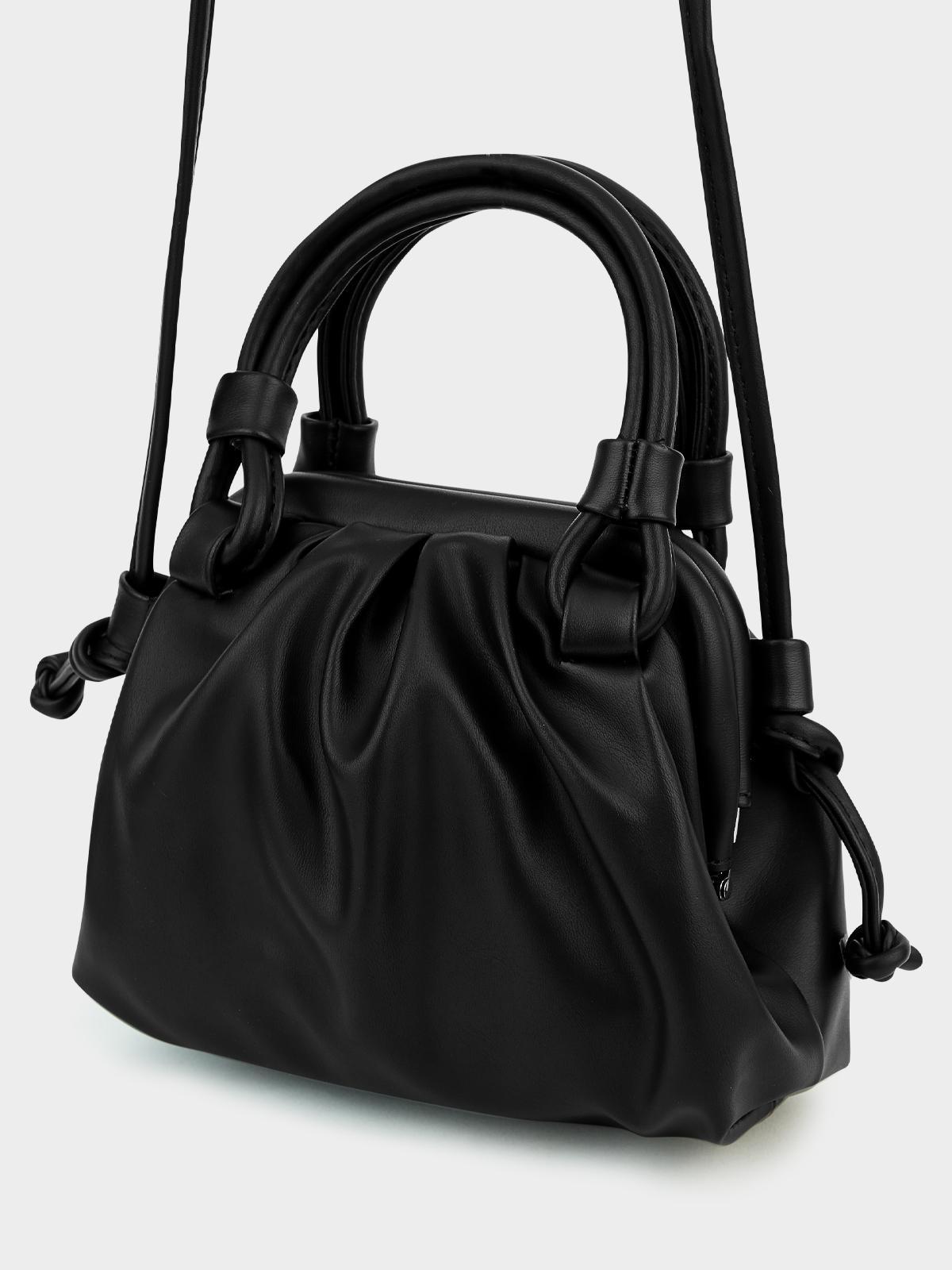 Ruched Strap Bag Black