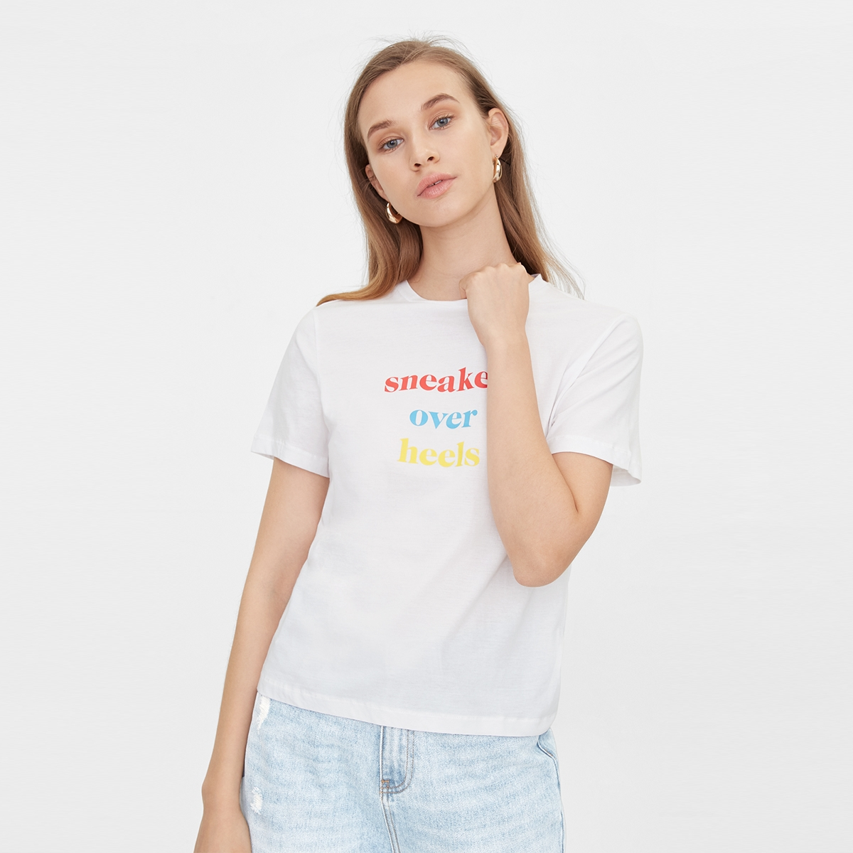 Sneakers Over Heels Graphic Tee White