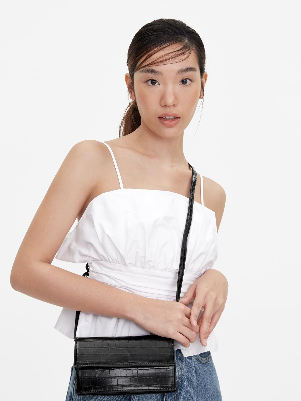 Mini Envelope Crossbody Bag Black