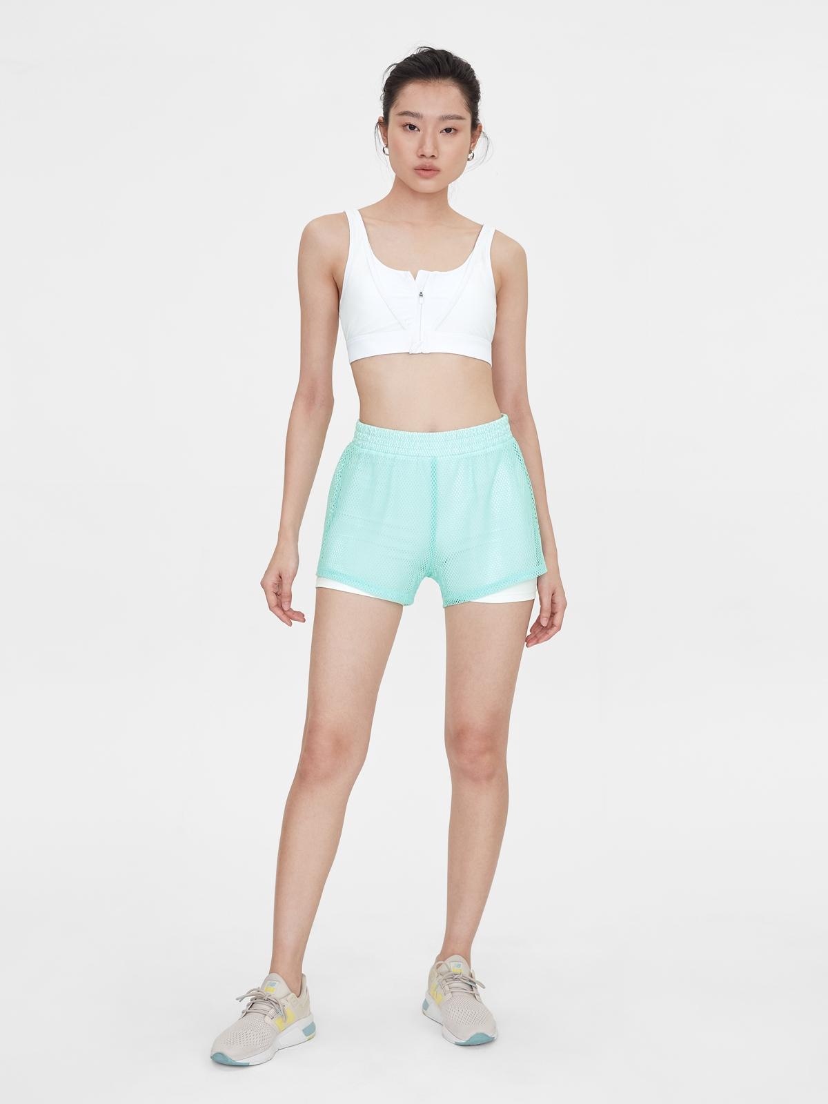 Mesh Cover Running Shorts Mint