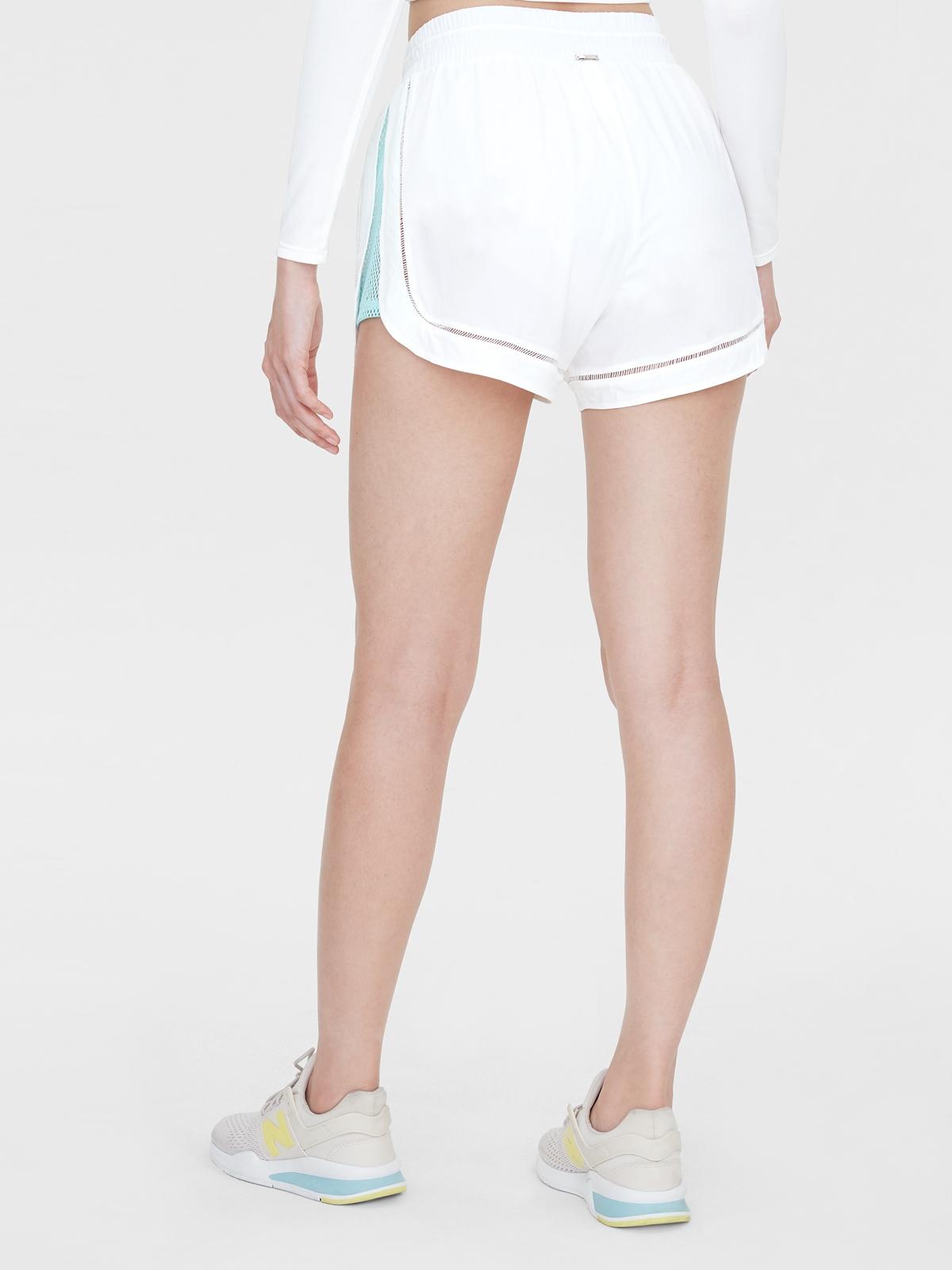 Side Mesh Running Shorts White