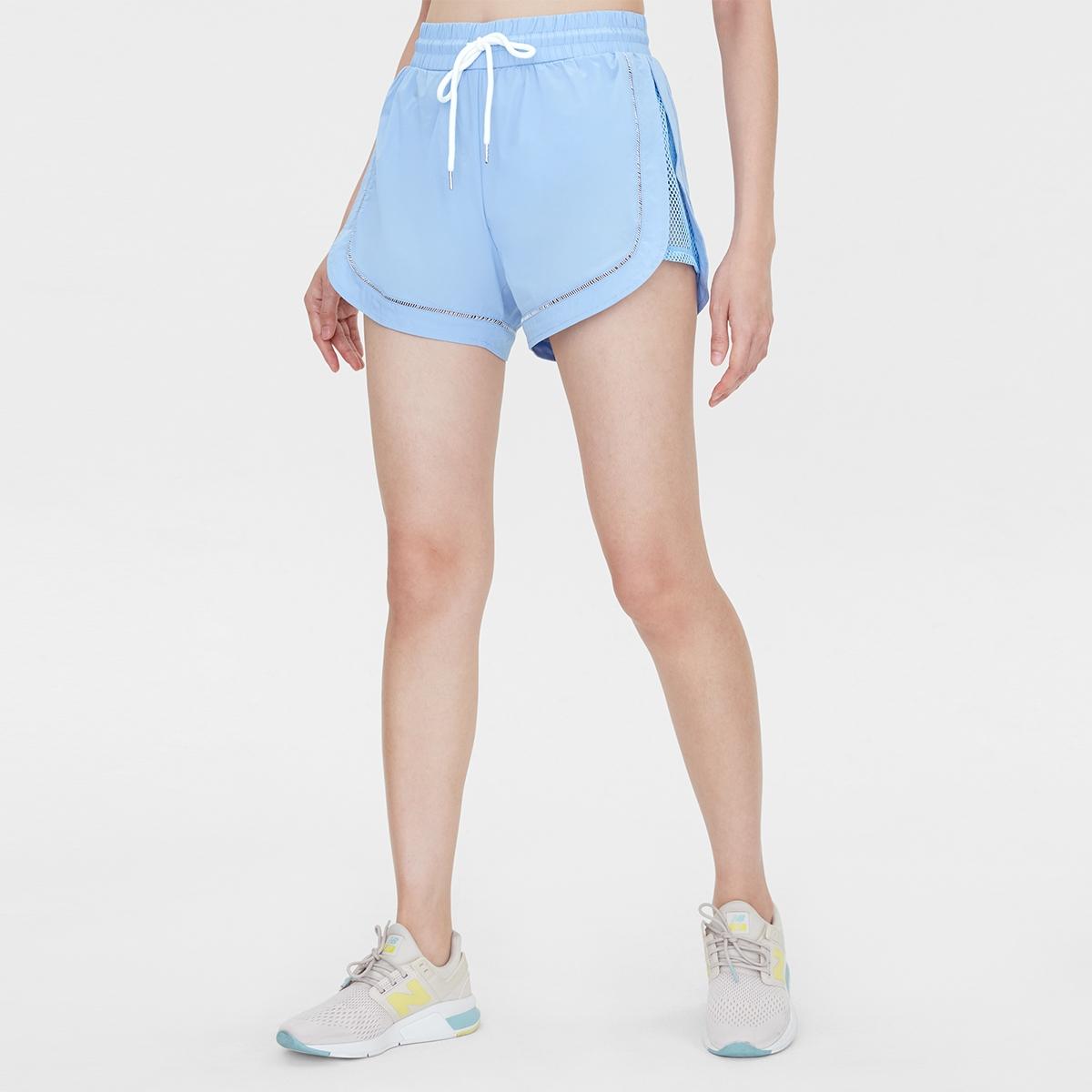 Side Mesh Running Shorts Blue