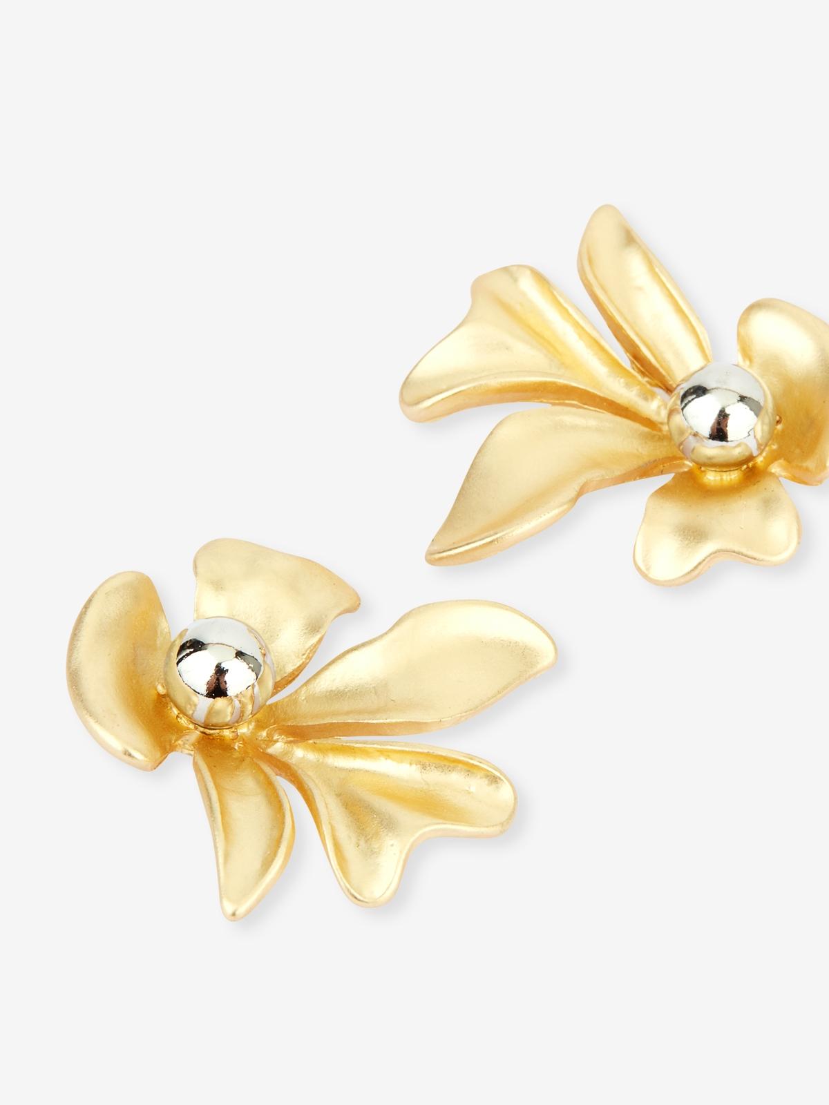 Petal Ball Earrings Gold