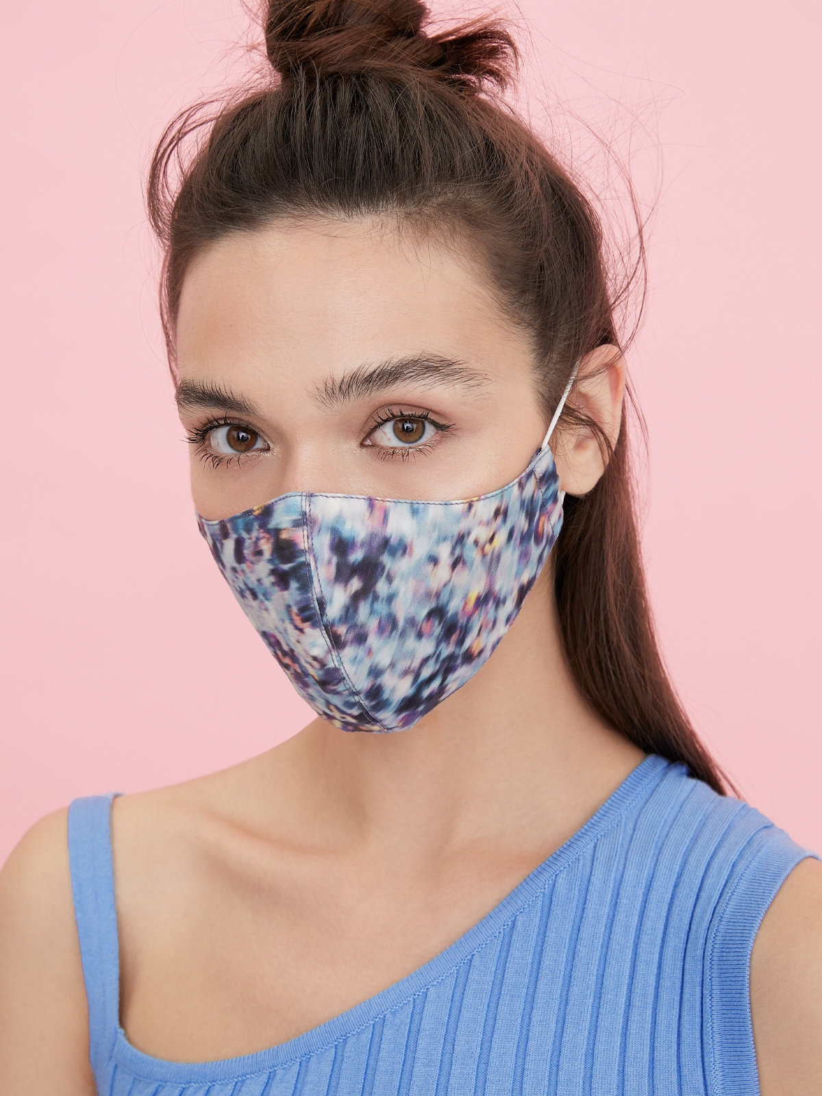 People Triple Defense Layer Mask Abstract Blue